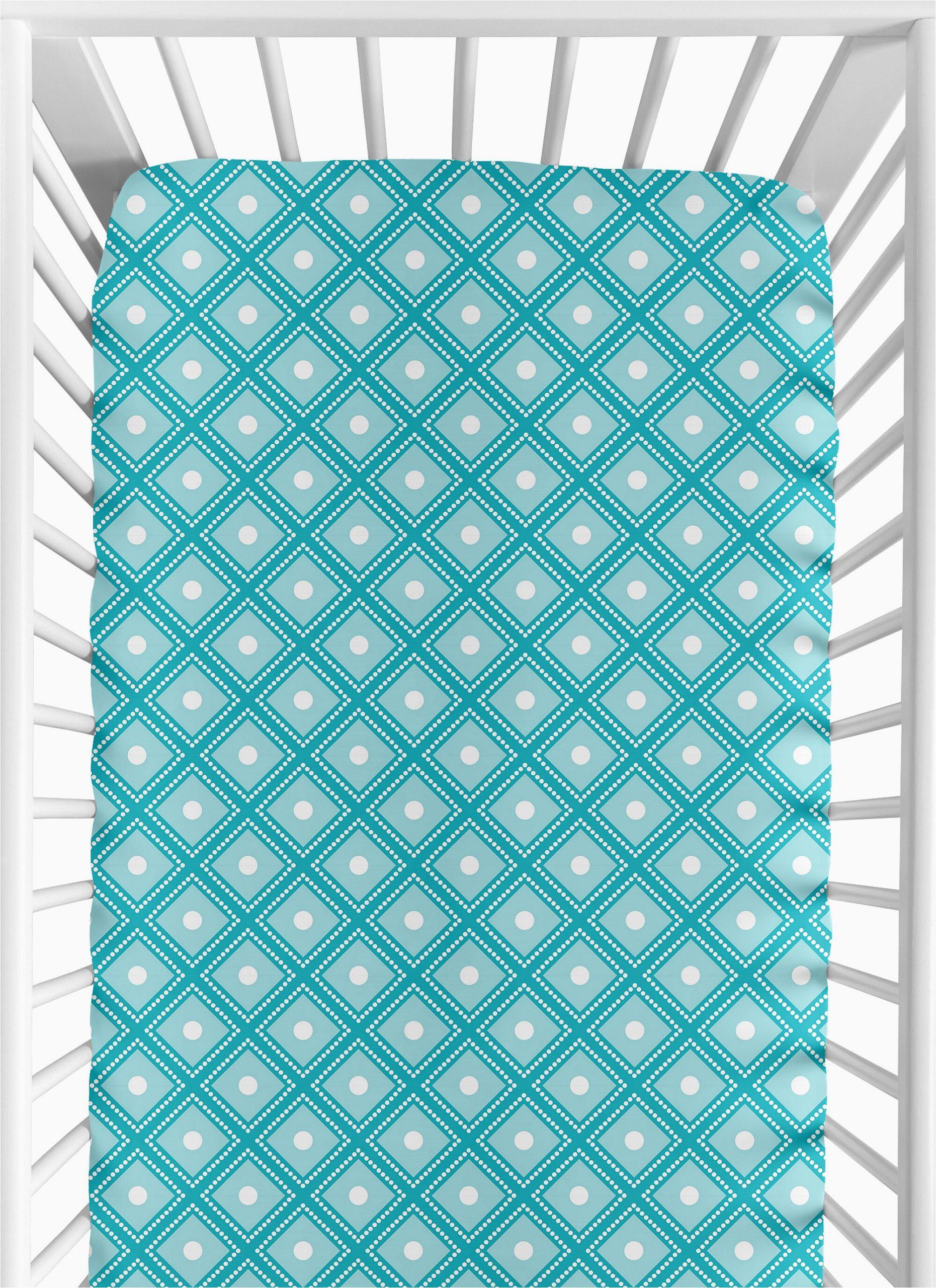 mod elephant fitted crib sheet