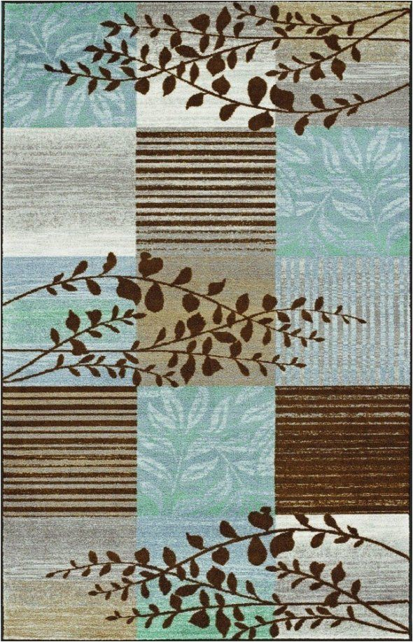 Teal and Brown area Rug 8×10 Chocolate area Rugs In Various Sizes and Patterns