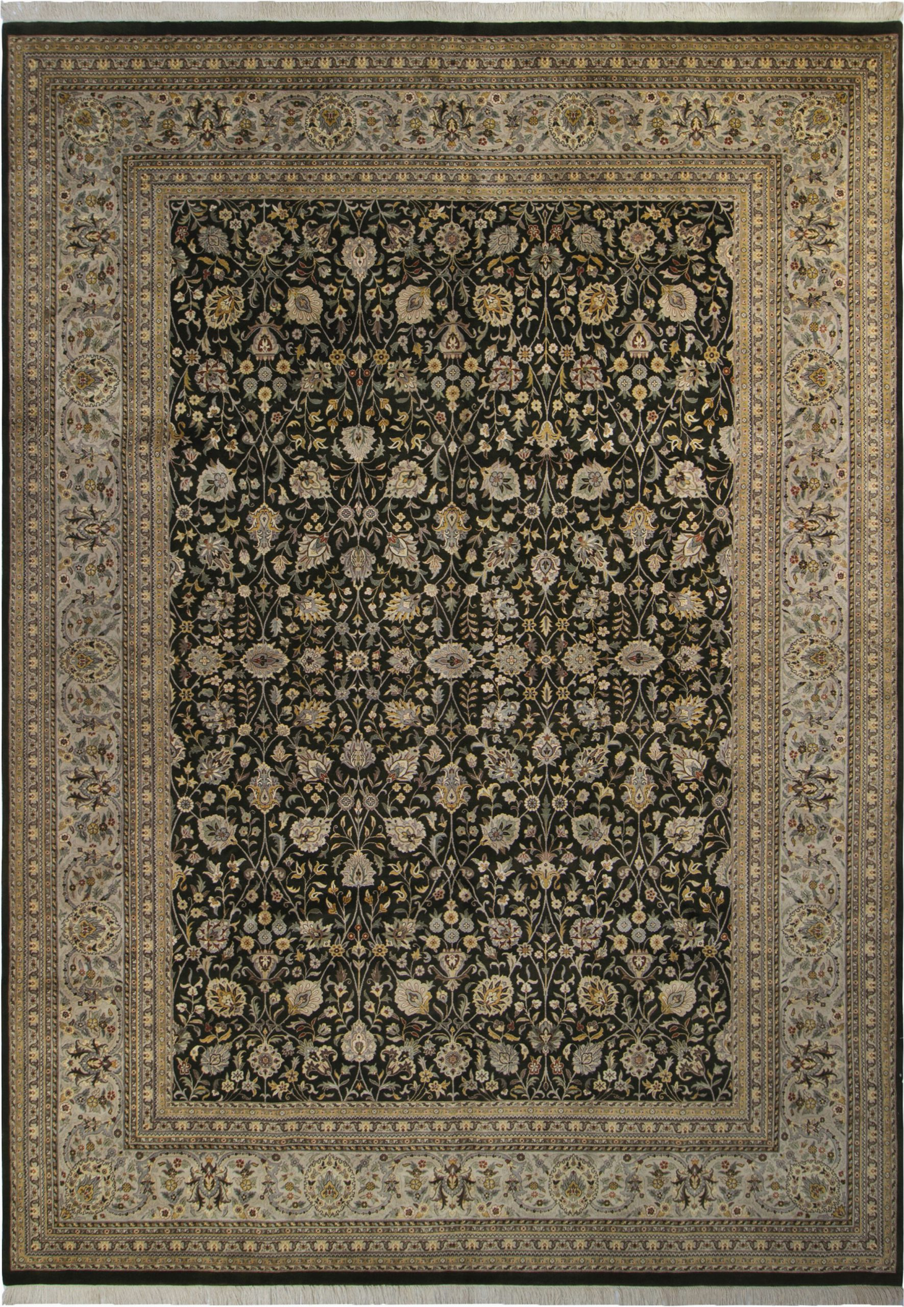 astoria grand one of a kind bellville hand knotted 1960s charcoal 10 x 143 wool area rug argd5971