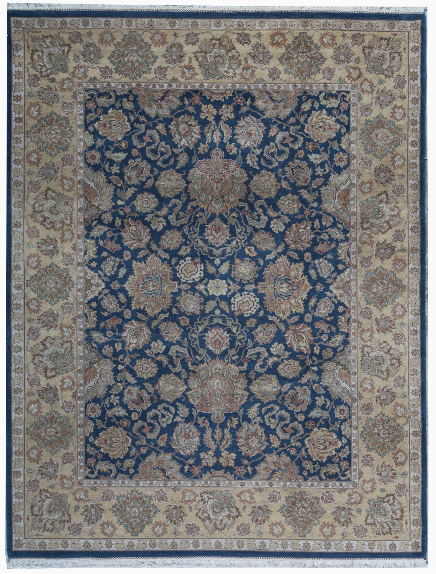 bokara rug co inc one of a kind king hand knotted bluegold 92 x 1110 wool area rug abhd4812