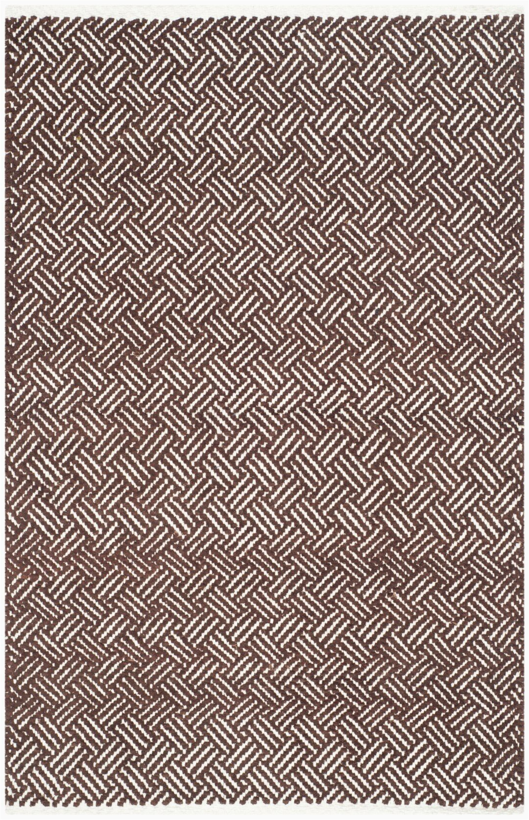 andrea hand tufted cotton brown area rug