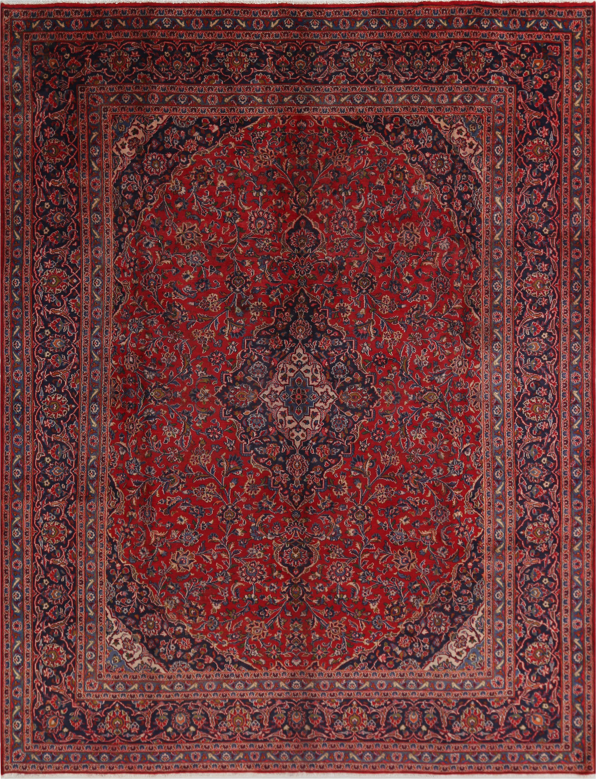 9x12 ft persian hand knotted red wool sku