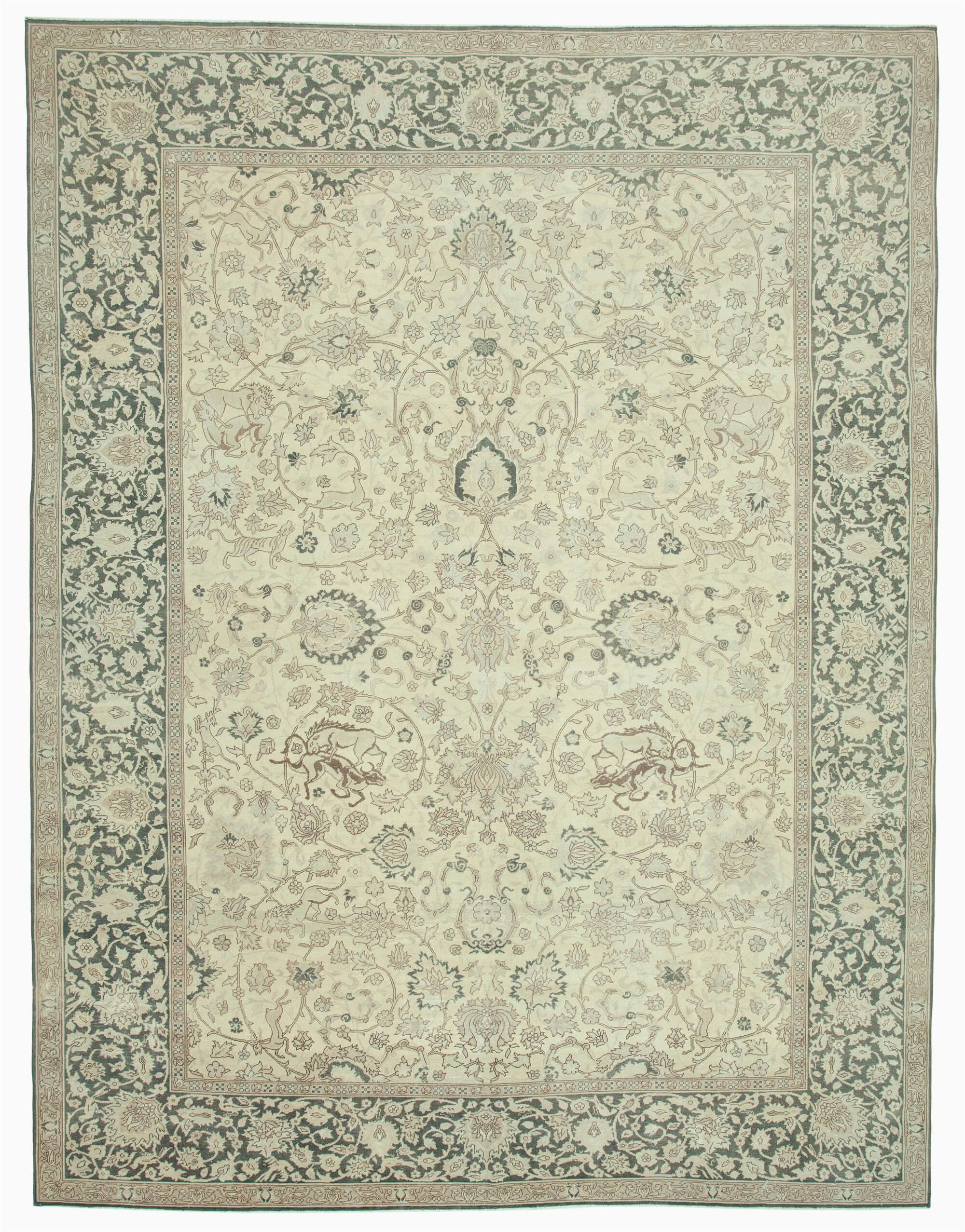 10x12 beige vintage large area rug