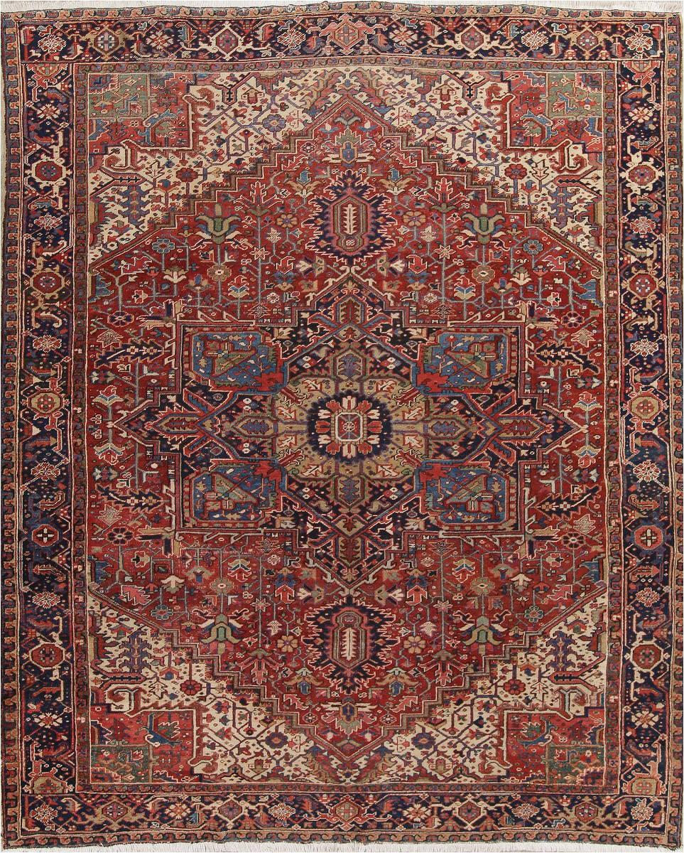 geometric heriz persian area rug 10x12