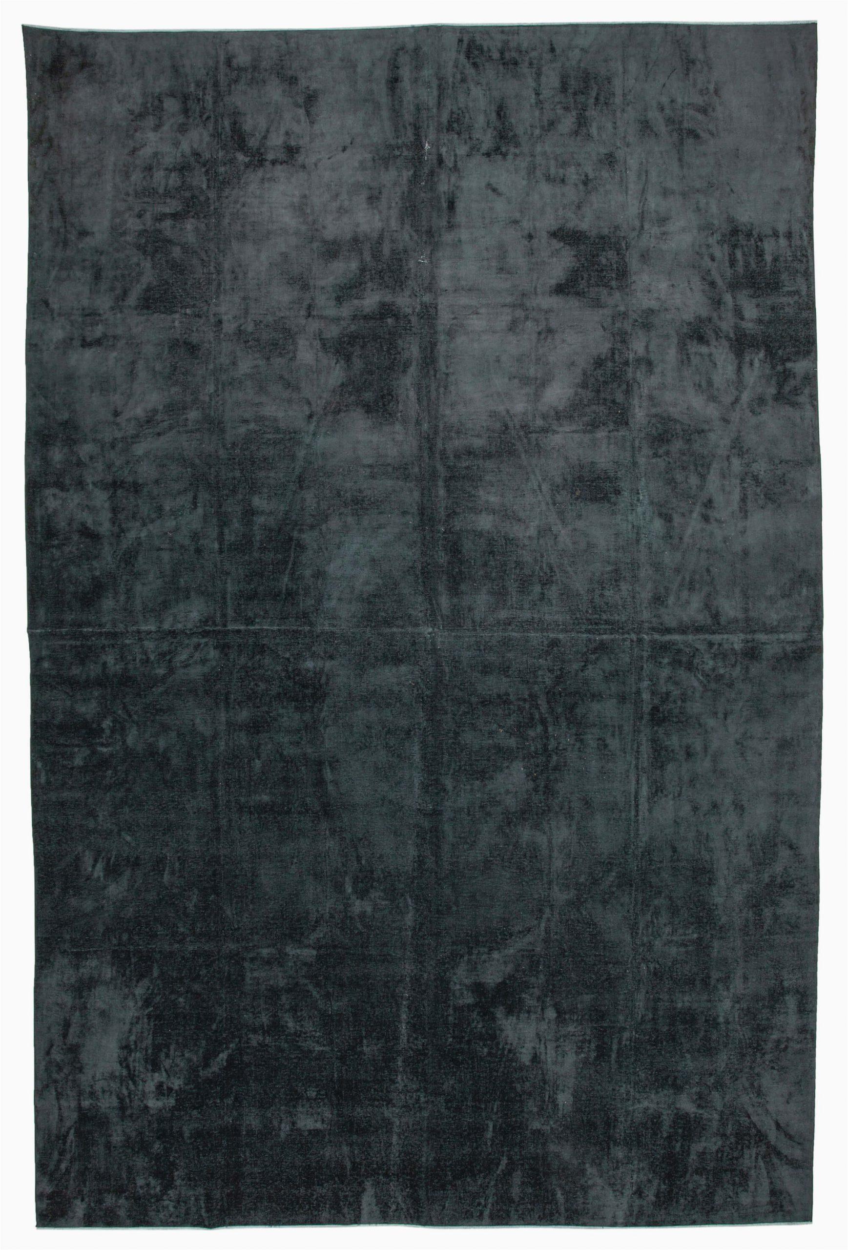 11x17 black overdyed large area rug 2416