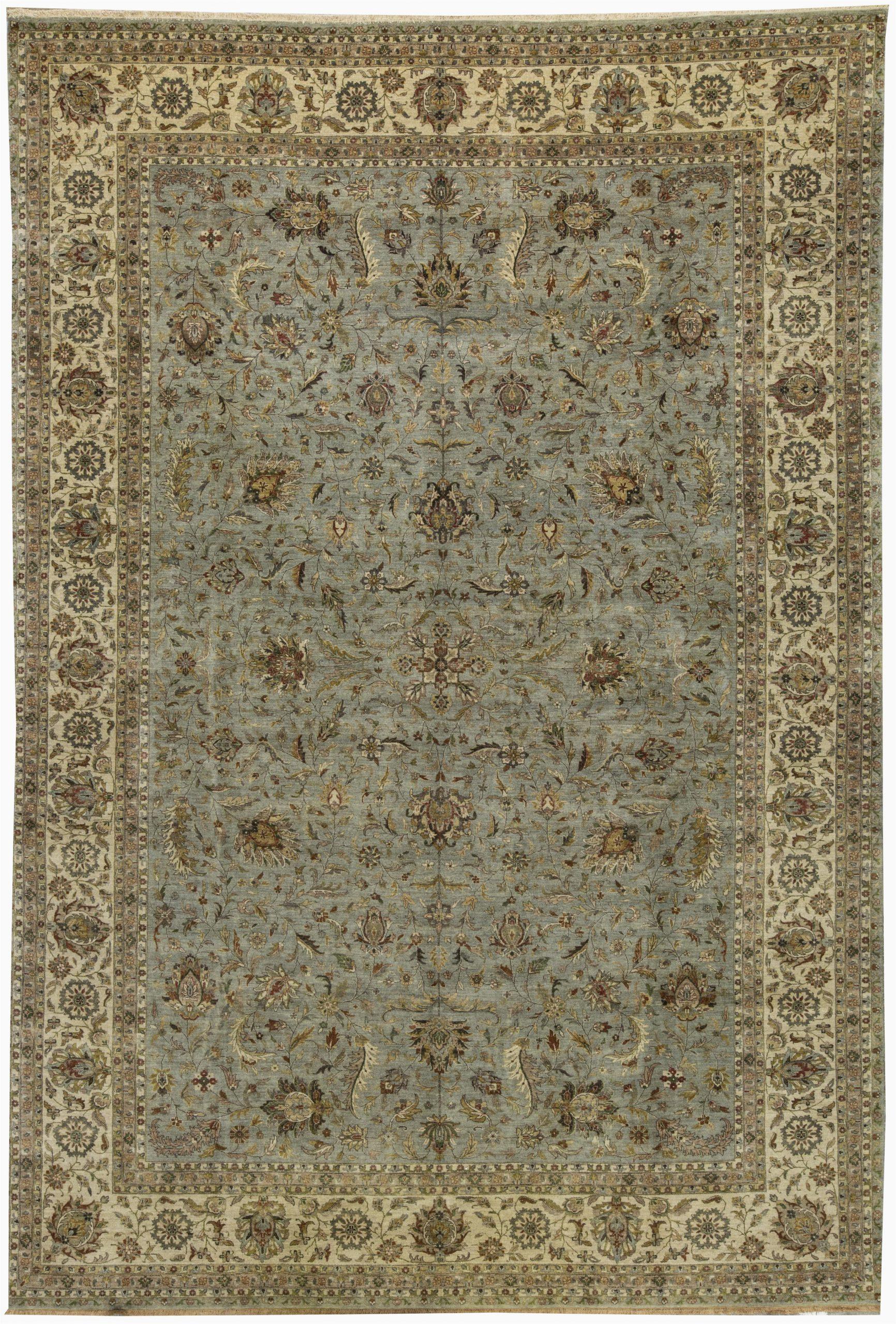 bokara rug co inc one of a kind aberdeen handwoven 117 x 175 wool bluebeige area rug abhd2539