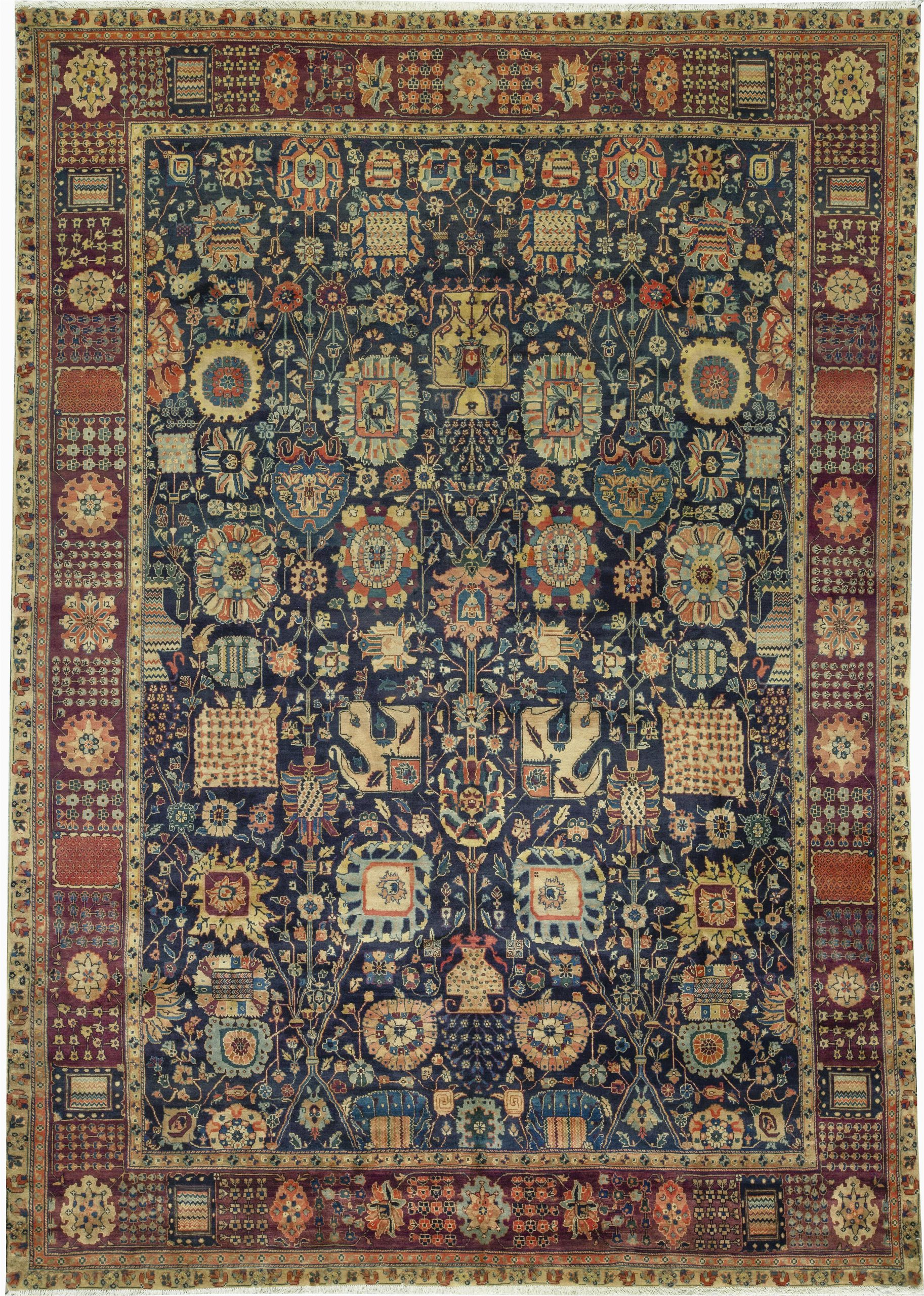 bokara rug co inc one of a kind magnolia handwoven 1111 x 17 wool bluebrown area rug abhd2698