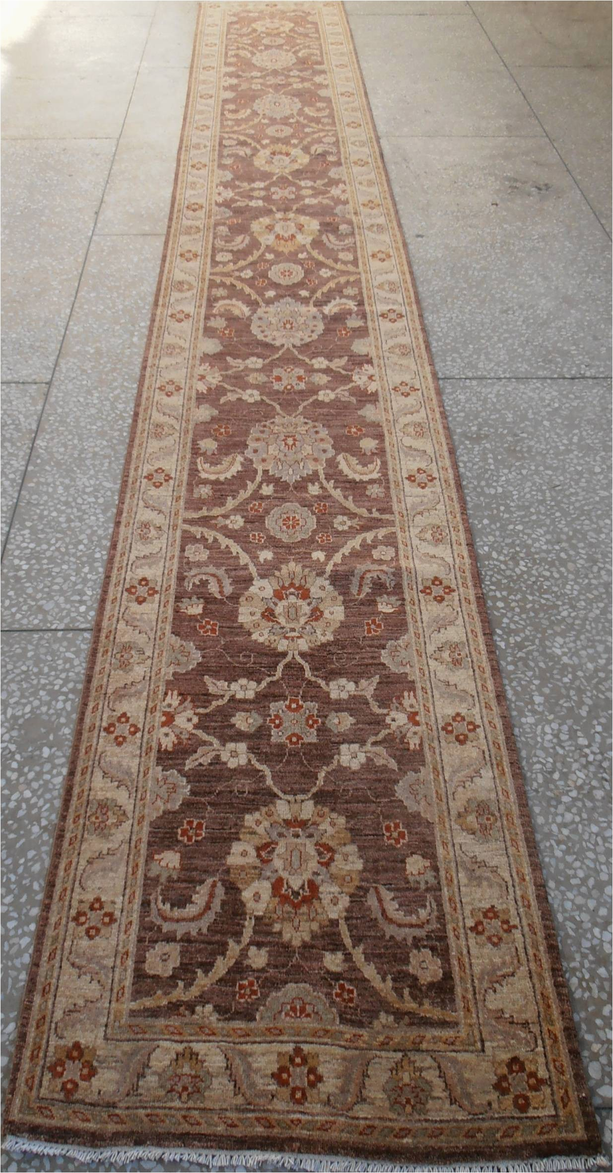 "16 X 20 area Rugs Chobi Brown Runner Hand Knotted 2 9"" X 19 4"" area Rug 700"