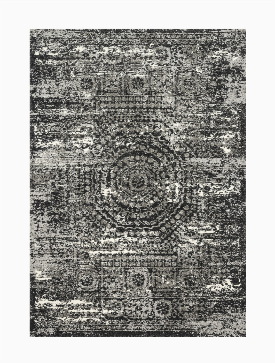 5 X 7 Black area Rug Viera Graphite Black area Rug