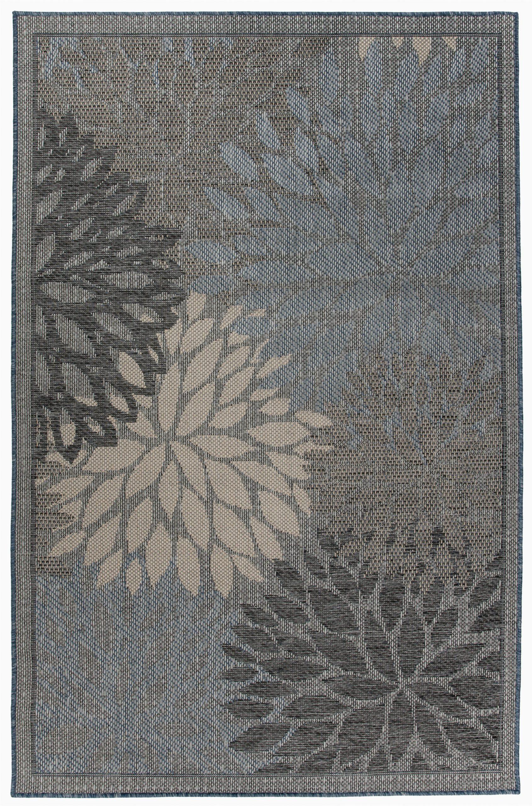 winston porter contemporary floral creamgrey 5 x 7 indooroutdoor area rug c