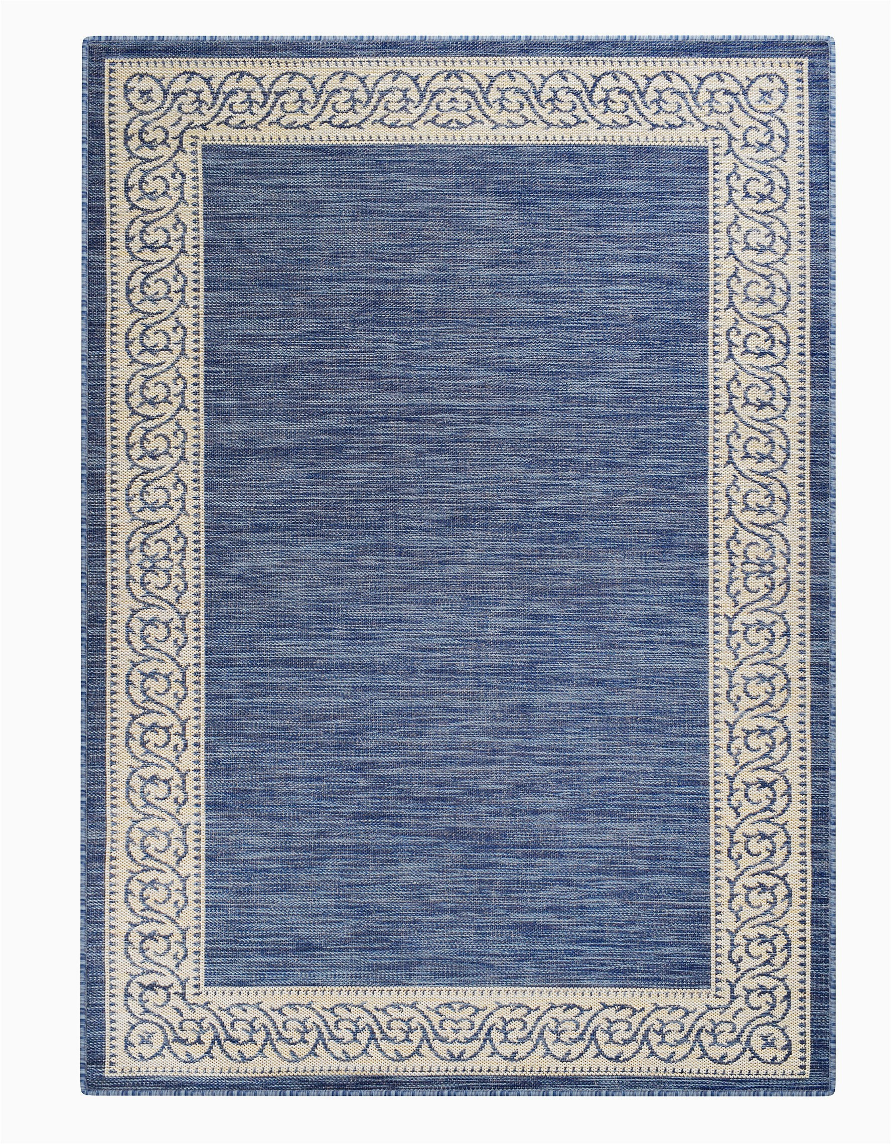 charlton home meyerwood floral shag 5 x 77 denim blue indoor outdoor area rug c