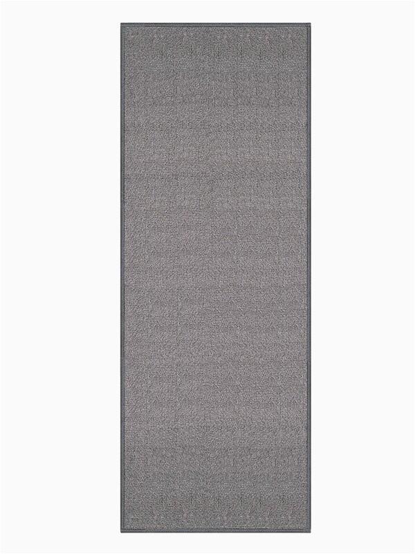 barnhart non skid rubber backed gray area rug