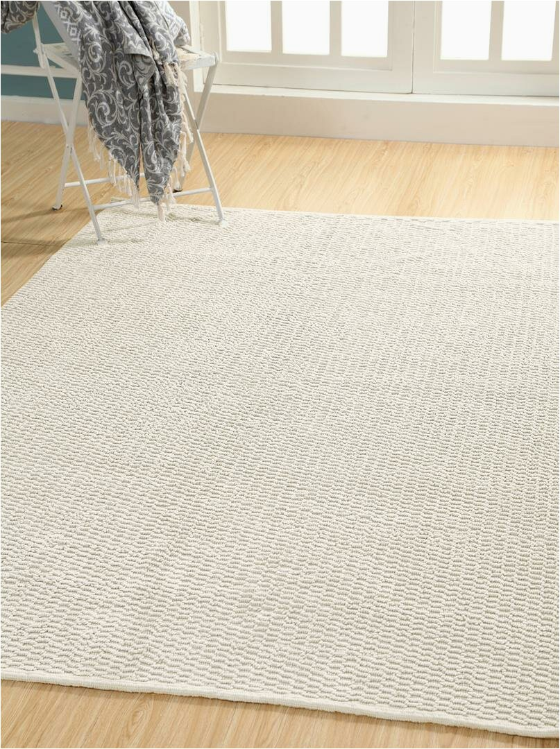 "5×7 area Rugs Near Me E Of A Kind Gelman Hand Knotted Ivory 5 X 7 6"" Cotton area Rug"
