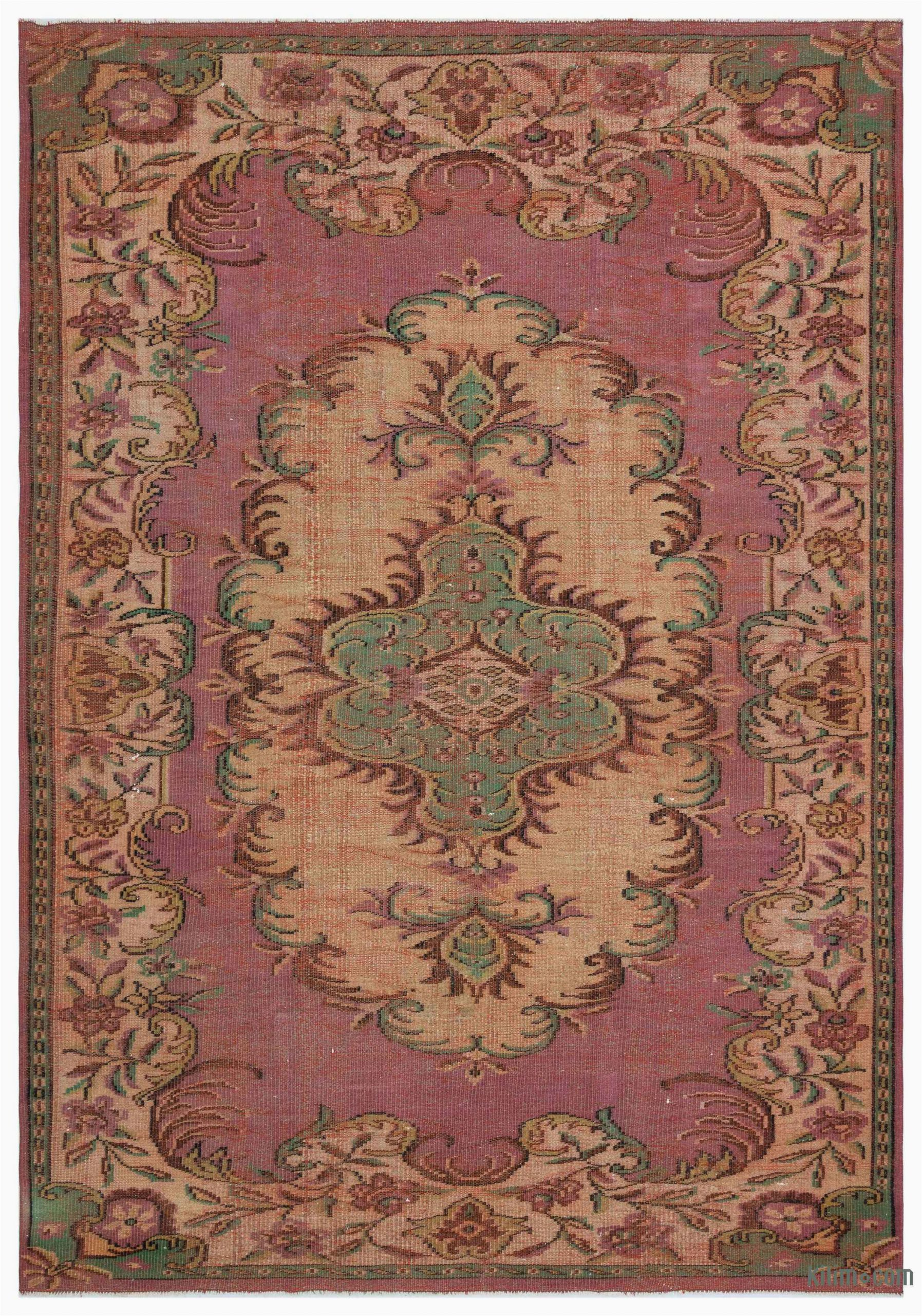 k turkish vintage area rug