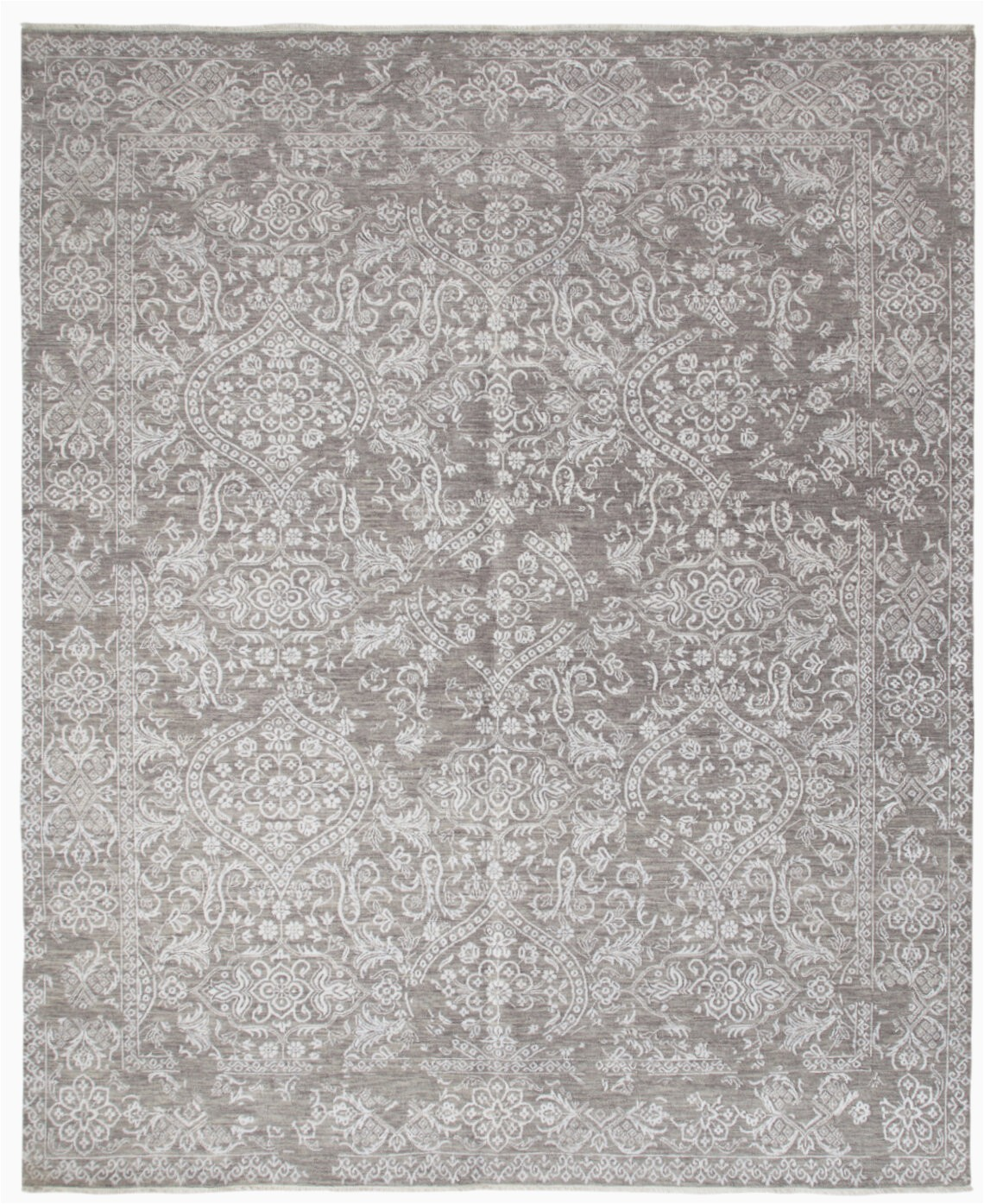 solo rugs one of a kind hand knotted gray 8 x 10 area rug slrh5917