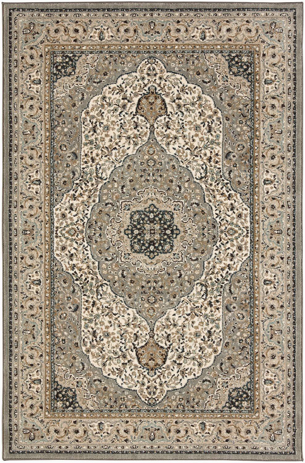 evington i 8 x 10 cream grey area rug