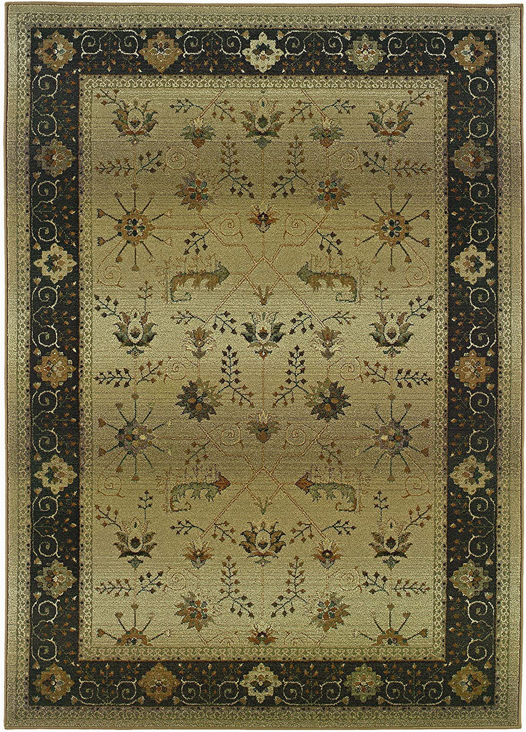 8 Ft Square area Rugs Traditional Genesis Tan 8ft Square area Rug Amazon