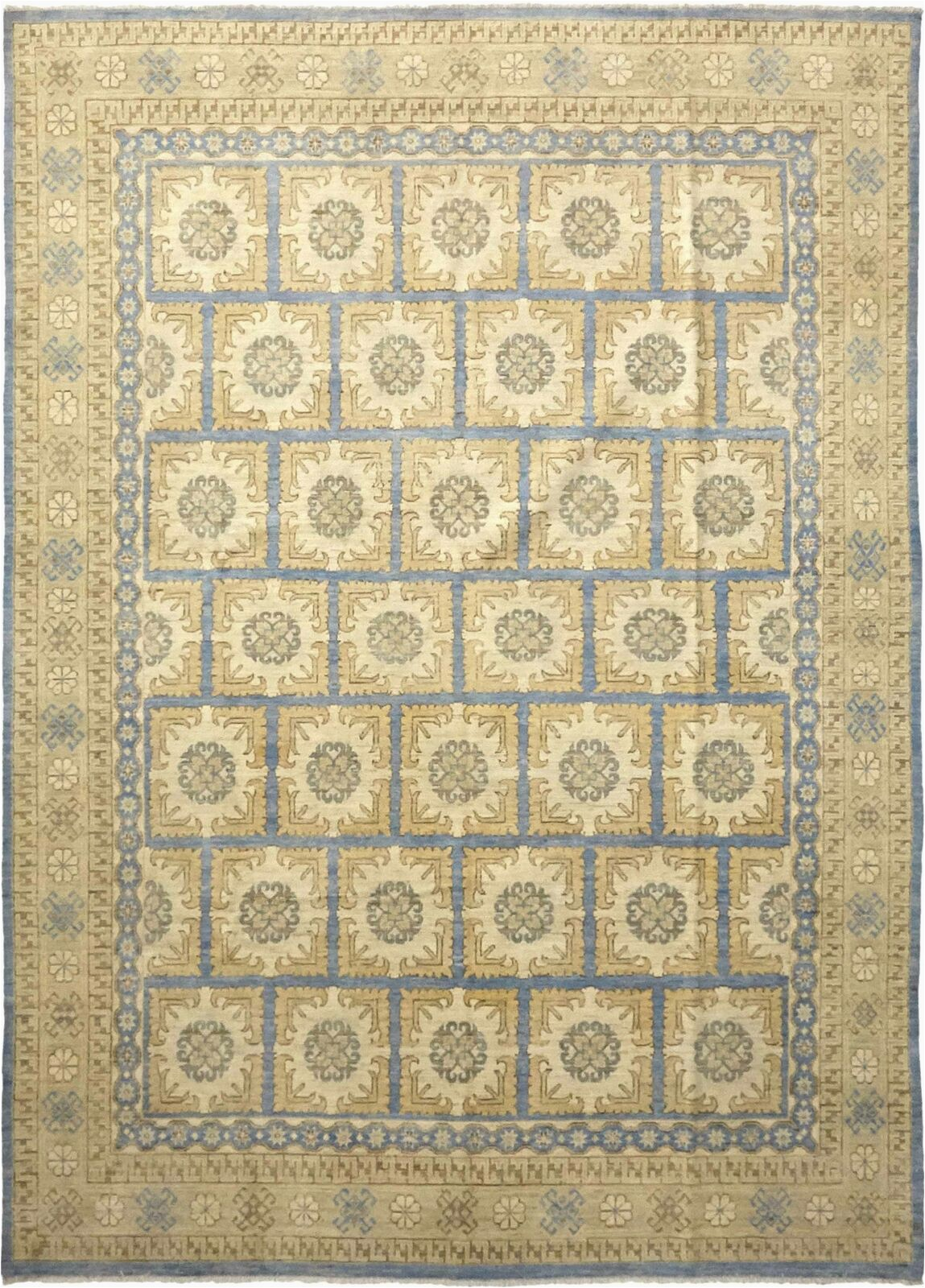 9 Ft X 12 Ft area Rug solo Rugs Khotan Hand Knotted area Rug In Hazelnut Wool 9 X 12 Ft