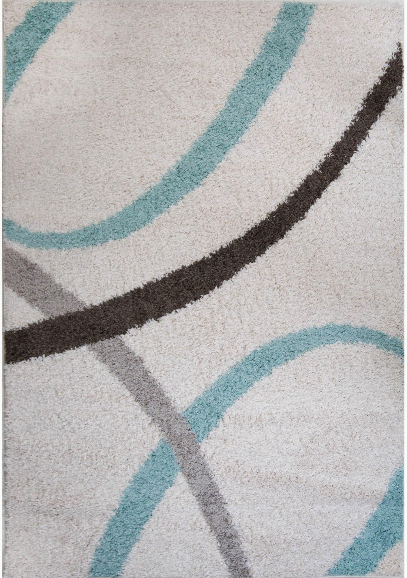 Aqua and White area Rug Nicole Miller Designer area Rug White Aqua Geometric Swirls