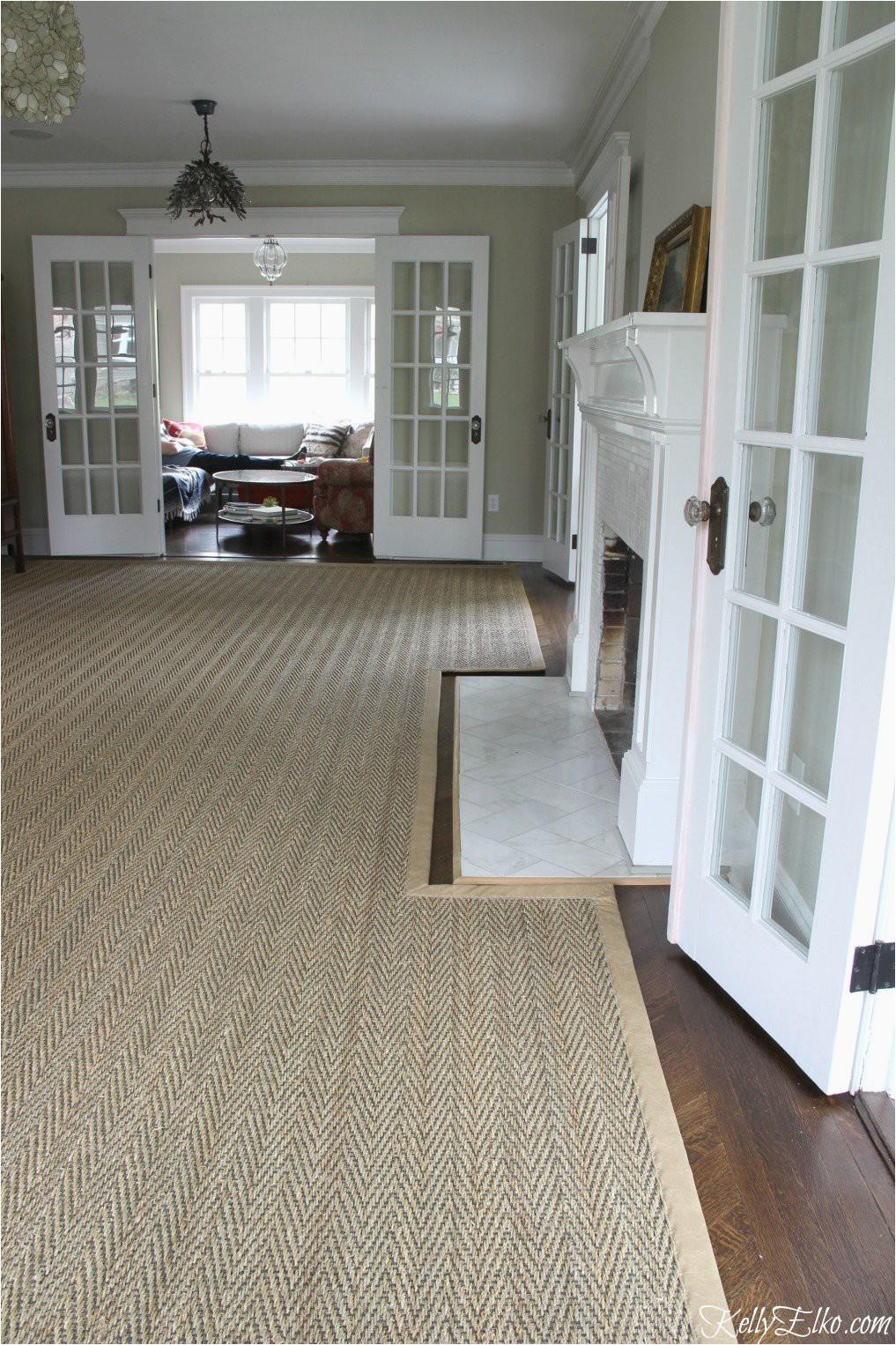 custom rug fireplace cutout seagrass