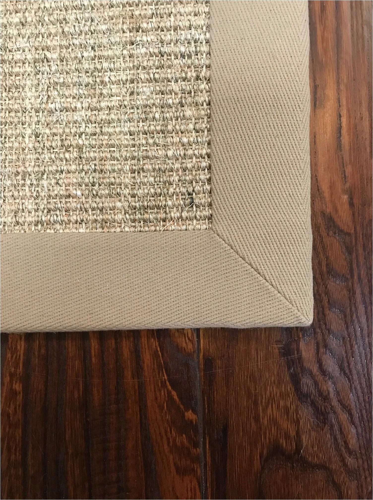 rug mitered corner