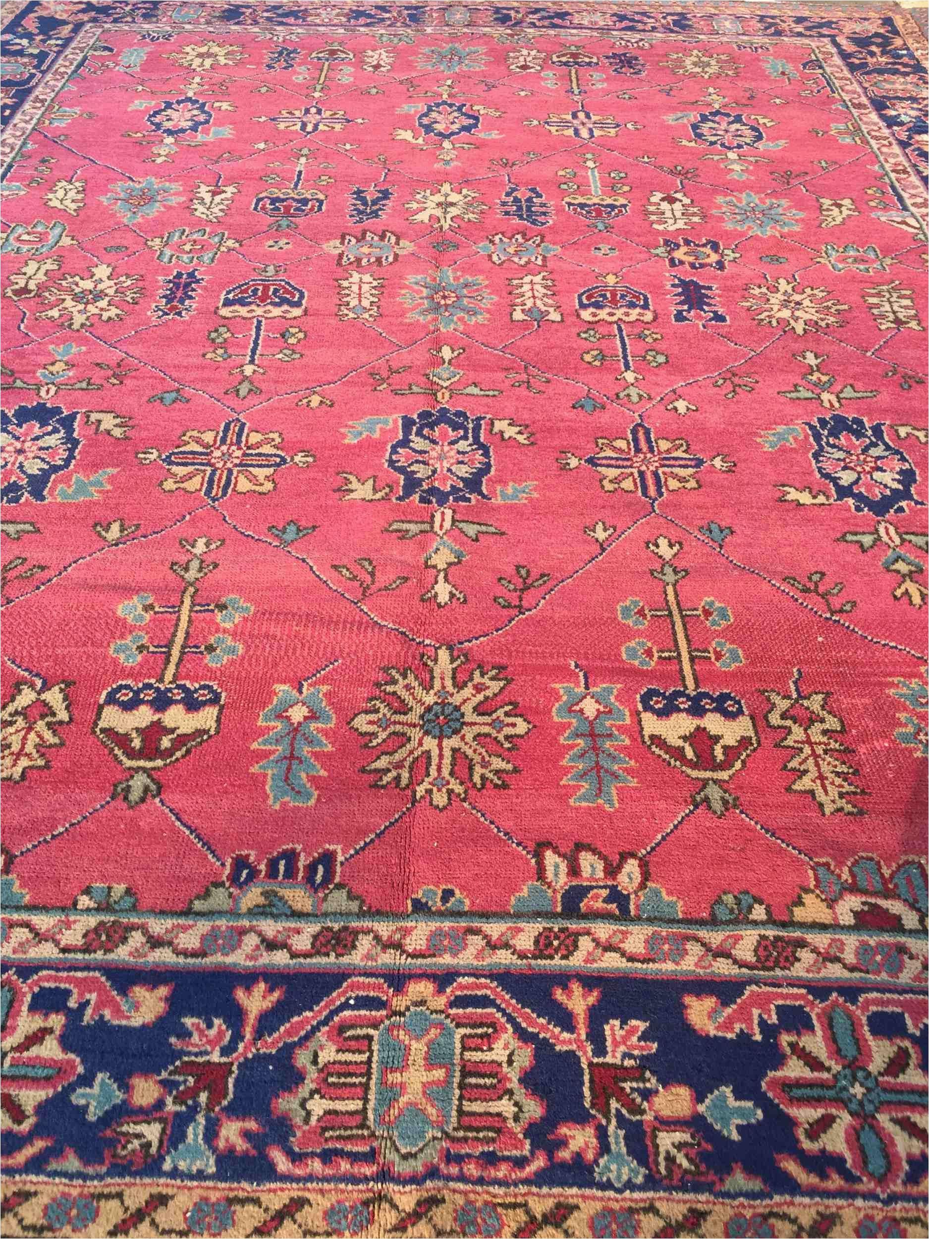 Area Rug for 10×12 Room Vintage Turkish Rug 10×12 Oushak isparta Rug