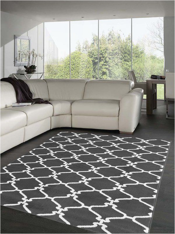 Area Rug for Grey Floors Dark Gray and White area Rug Love This Color Bo with