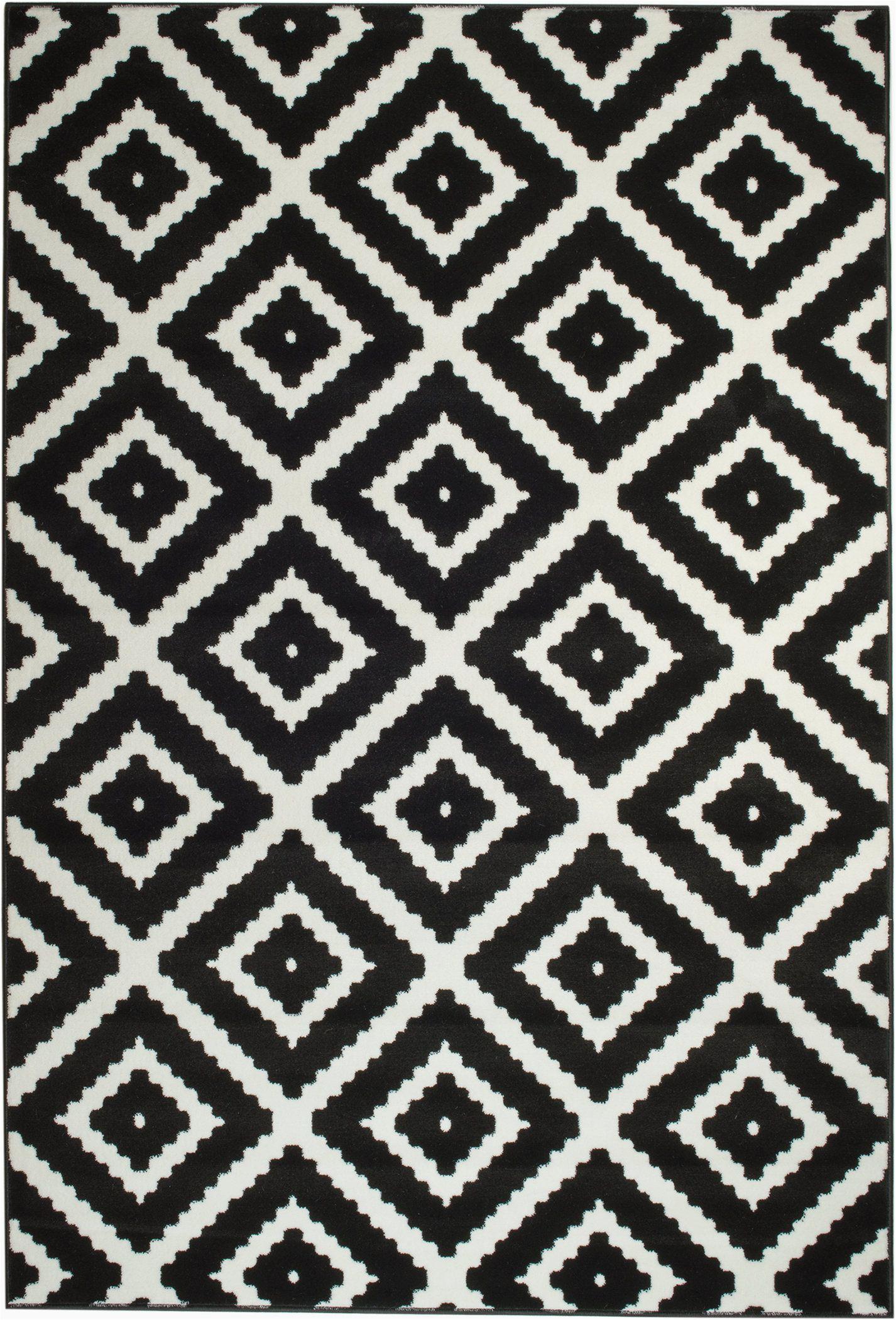 Area Rugs Black and White Pattern Leana Black Indoor area Rug Joss & Main