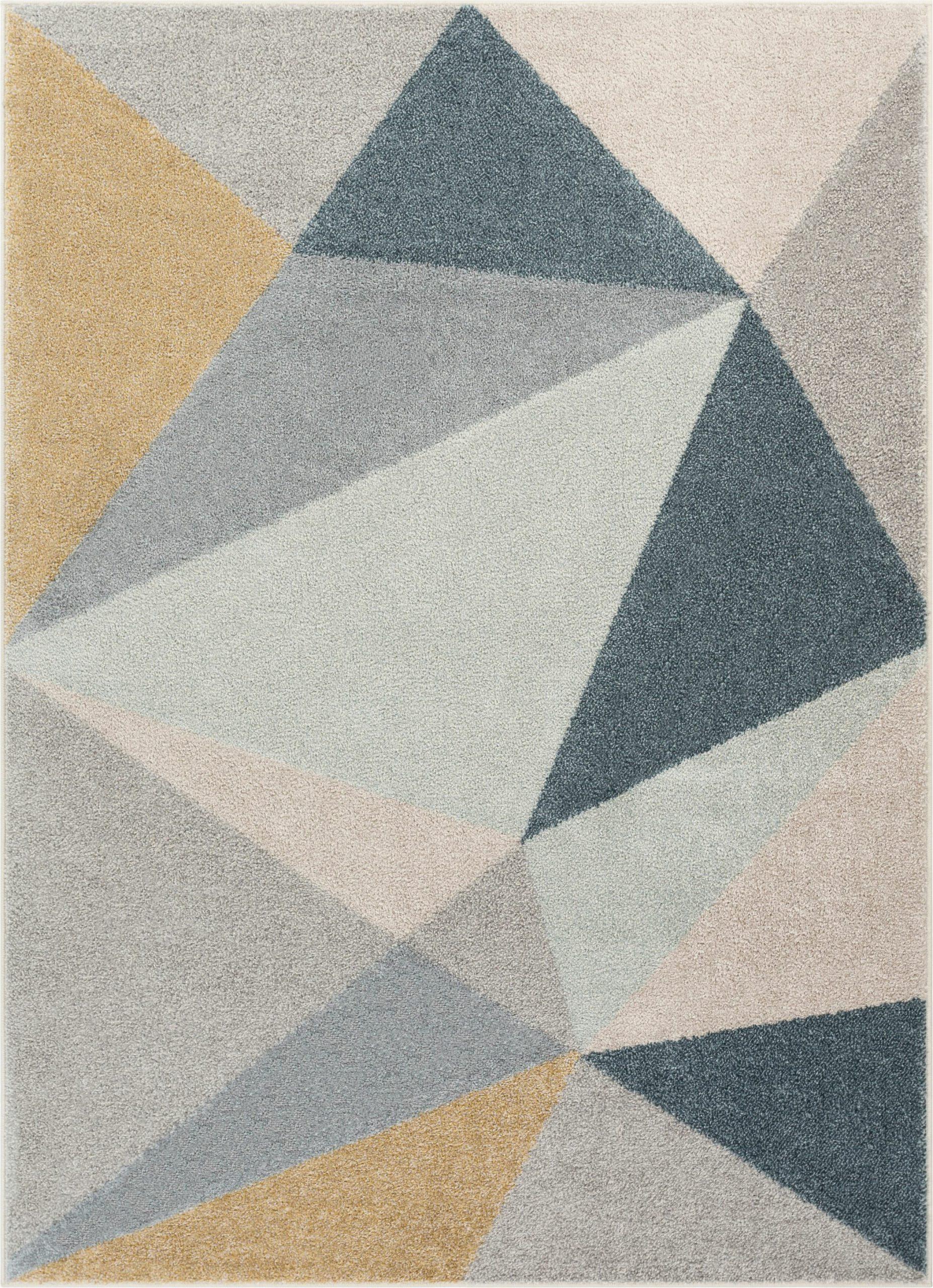 mystic modern vintage geometric gold gray area rug