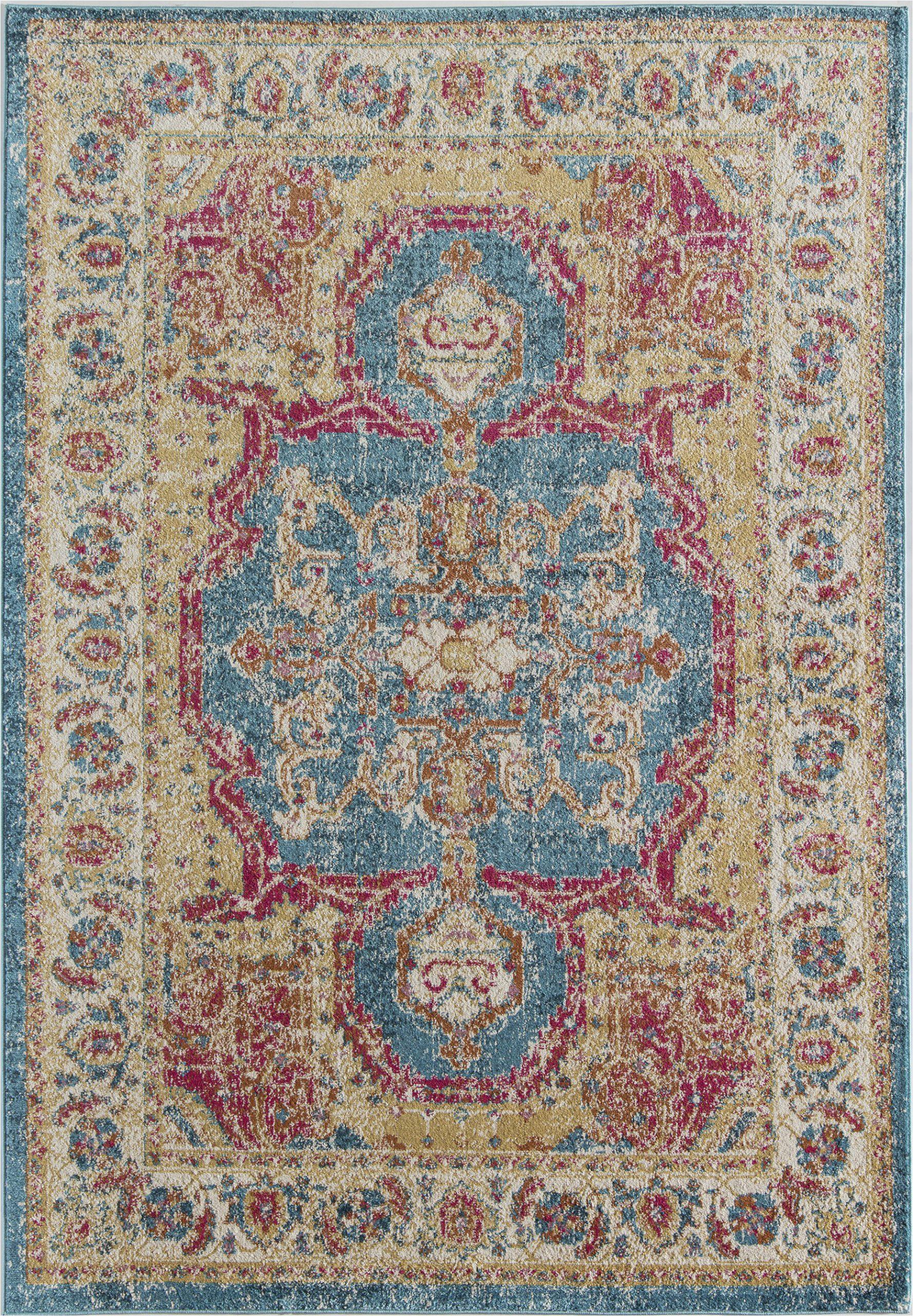 avenue vintage transitional bluegold area rug