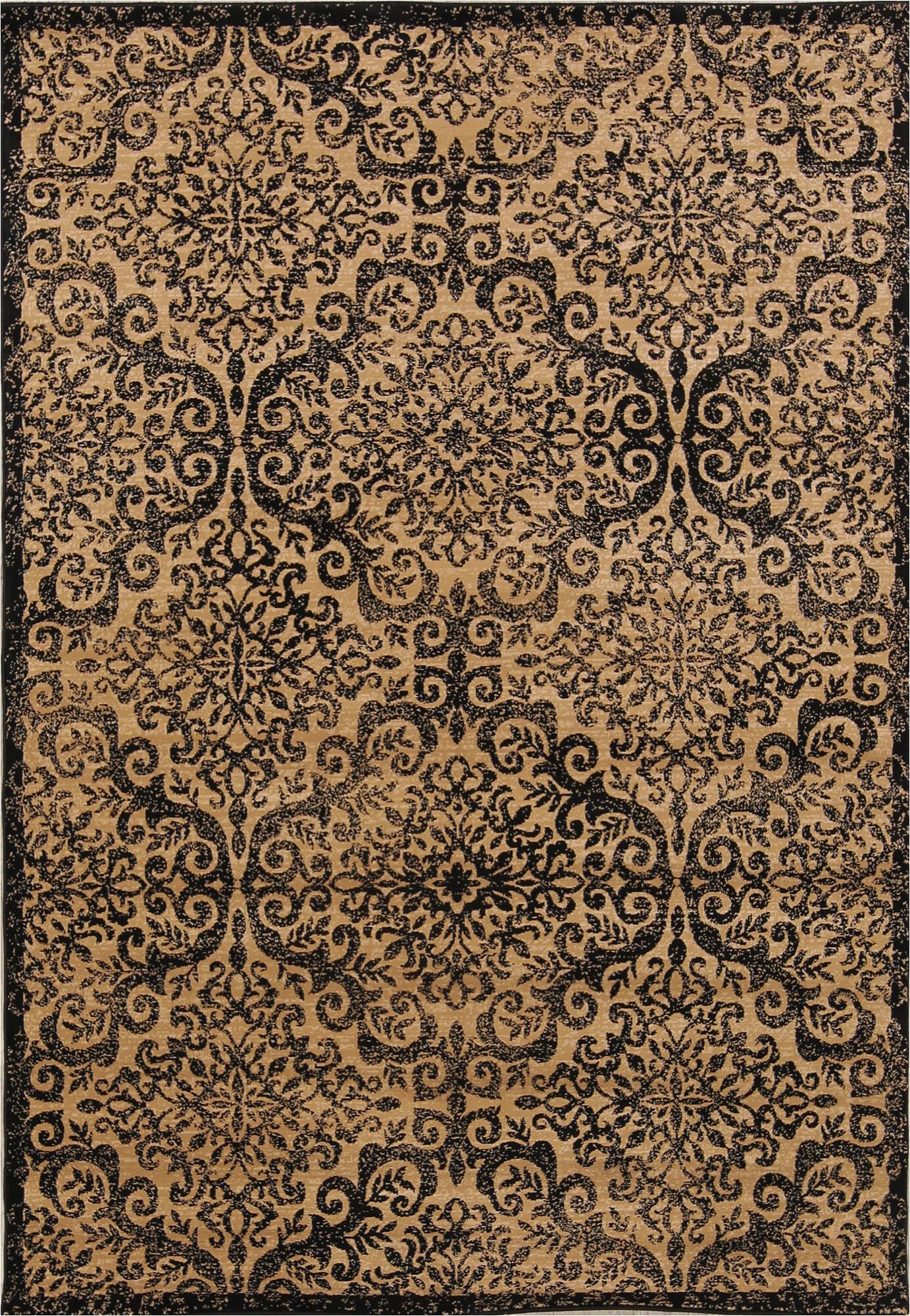 schneck belgium blackgold area rug