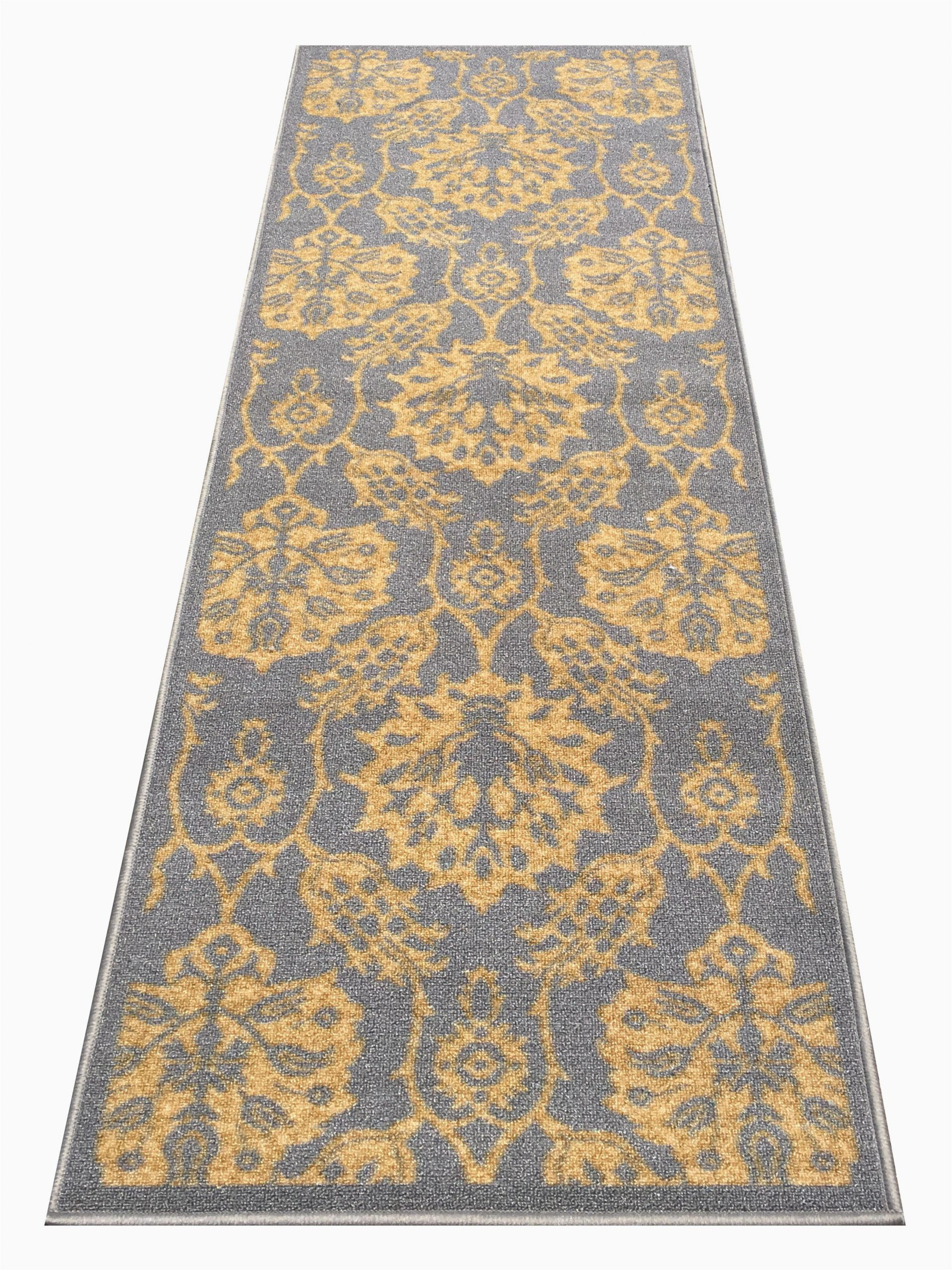 braud non slip backed gold area rug