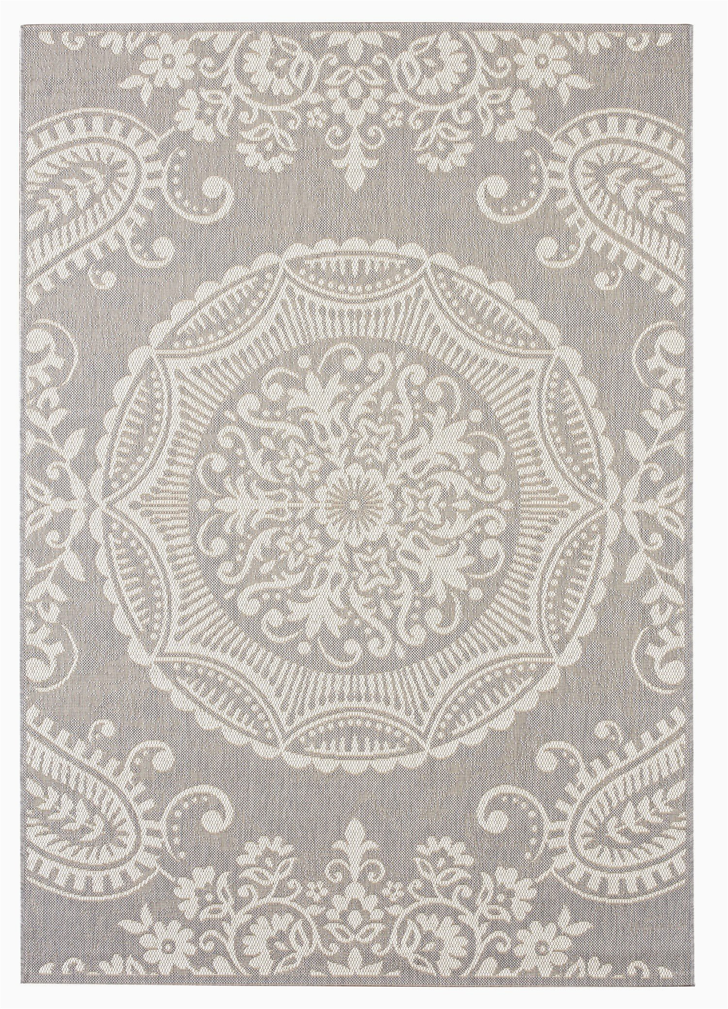 balta rugs highland indoor outdoor area rug 5 x 8 light grey