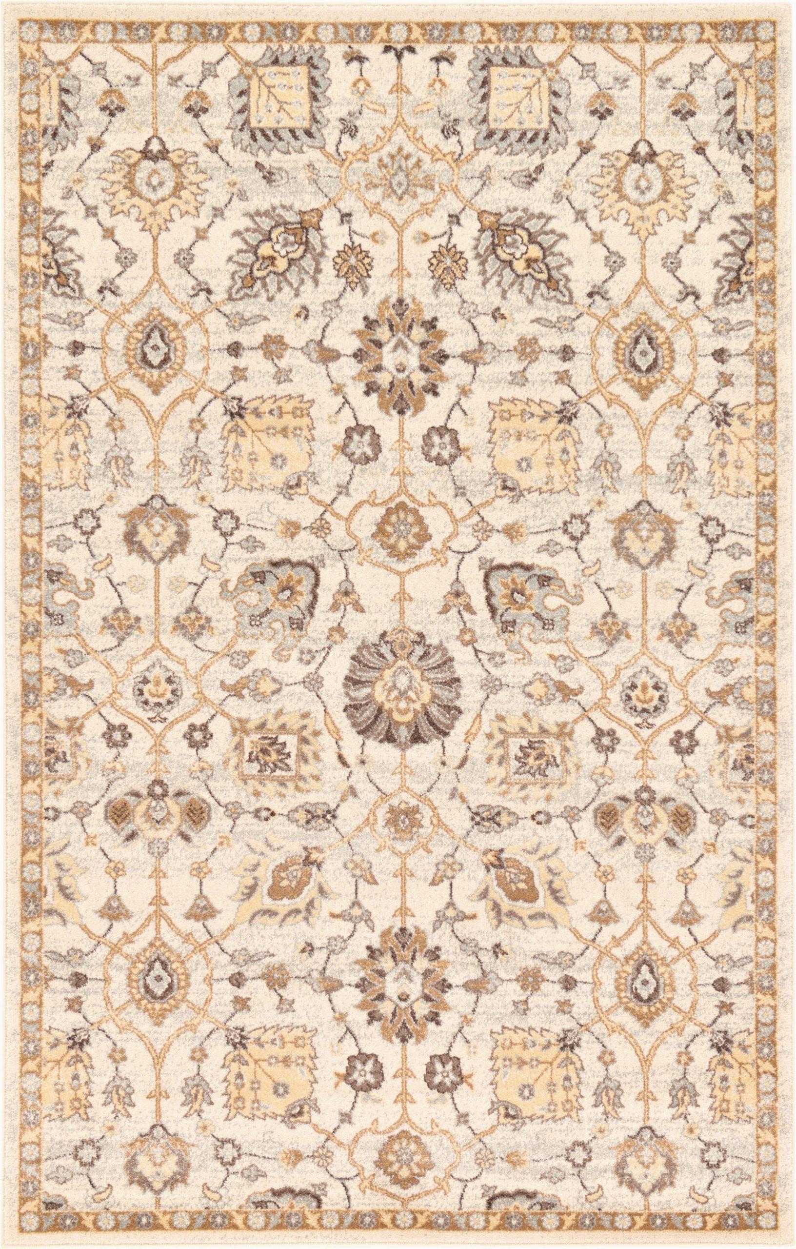 fulmore oriental ivorybeigebrown area rug