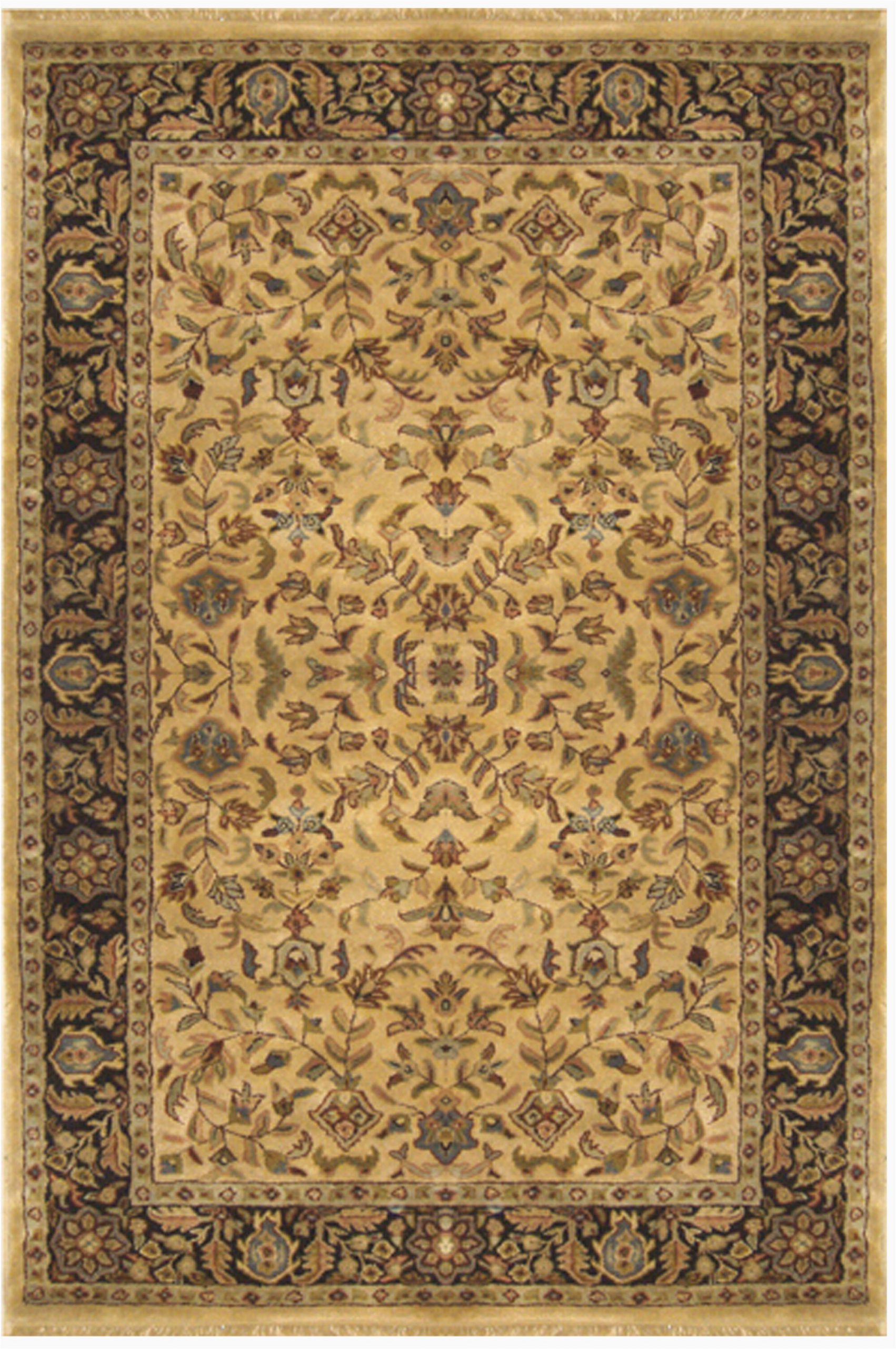 tabriz oriental handmade tufted wool beigegold area rug