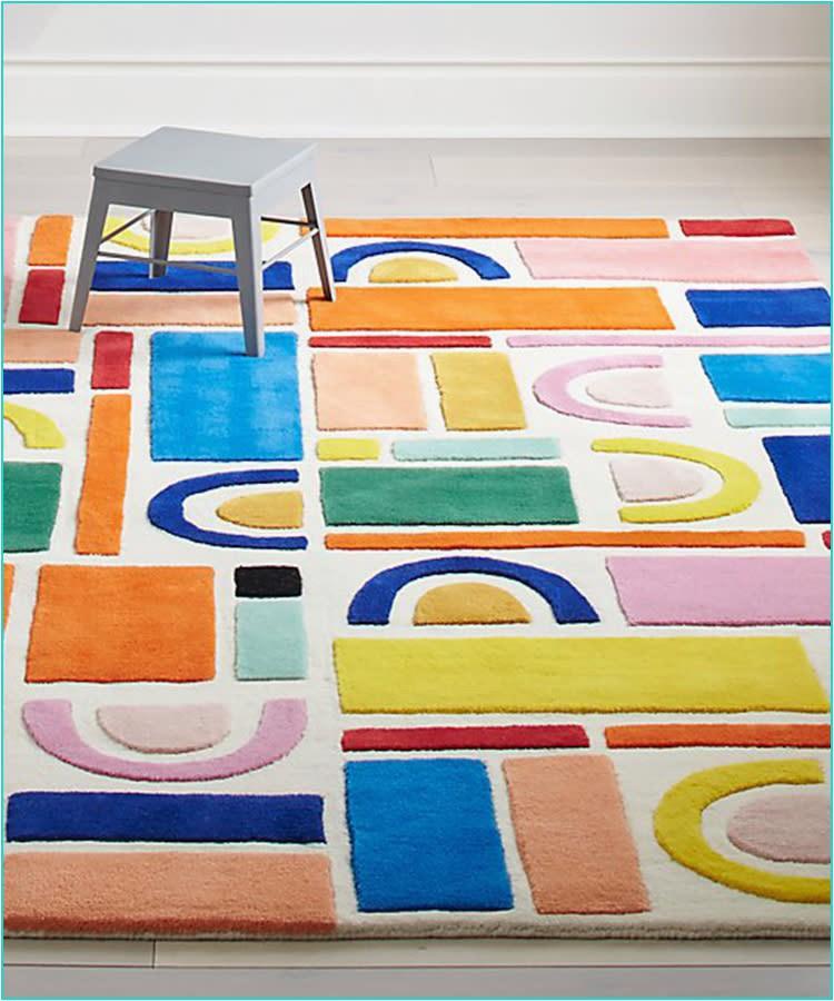 13 crate kids rainbow playroom rug 750x900