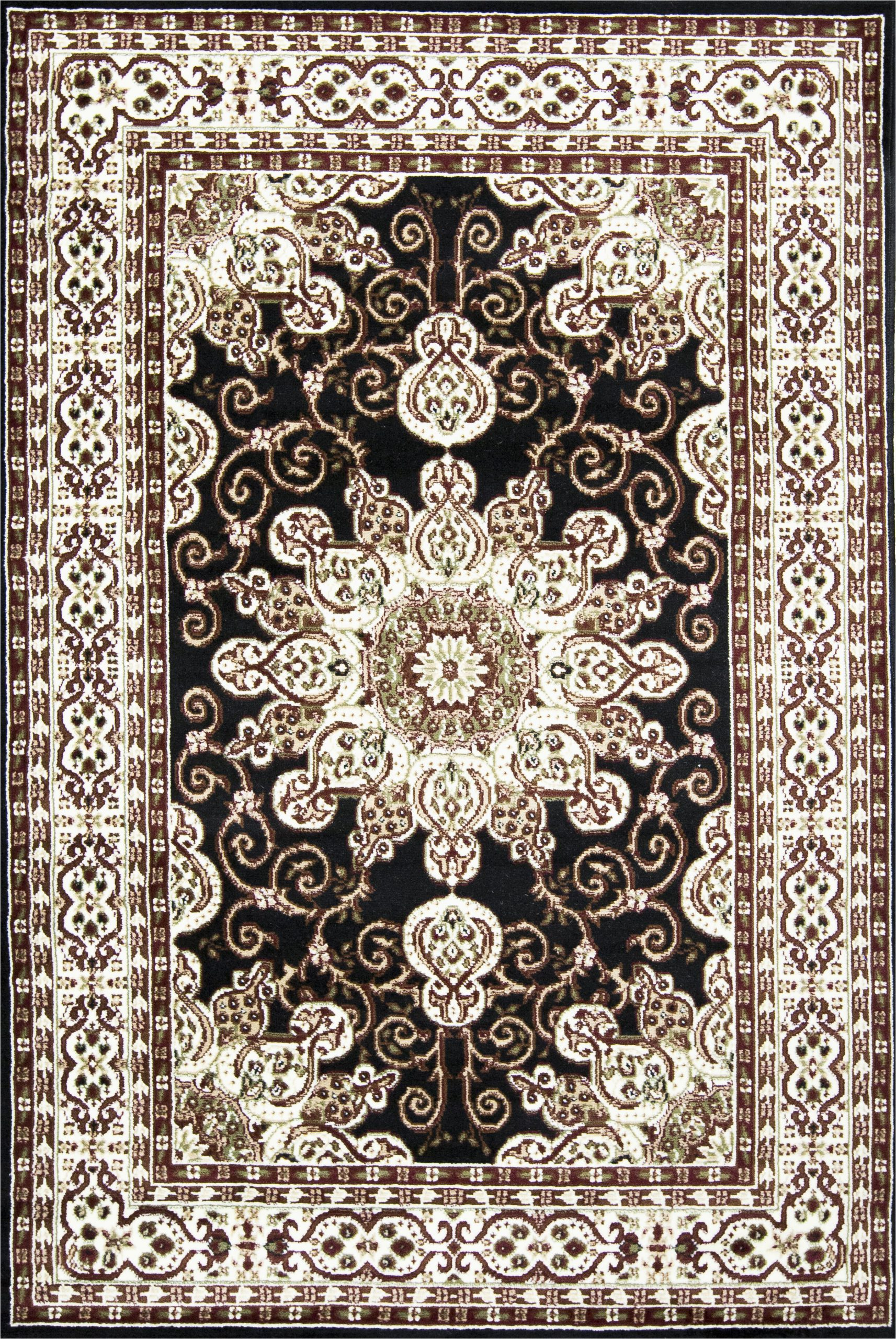 thanos oriental blackoff white area rug