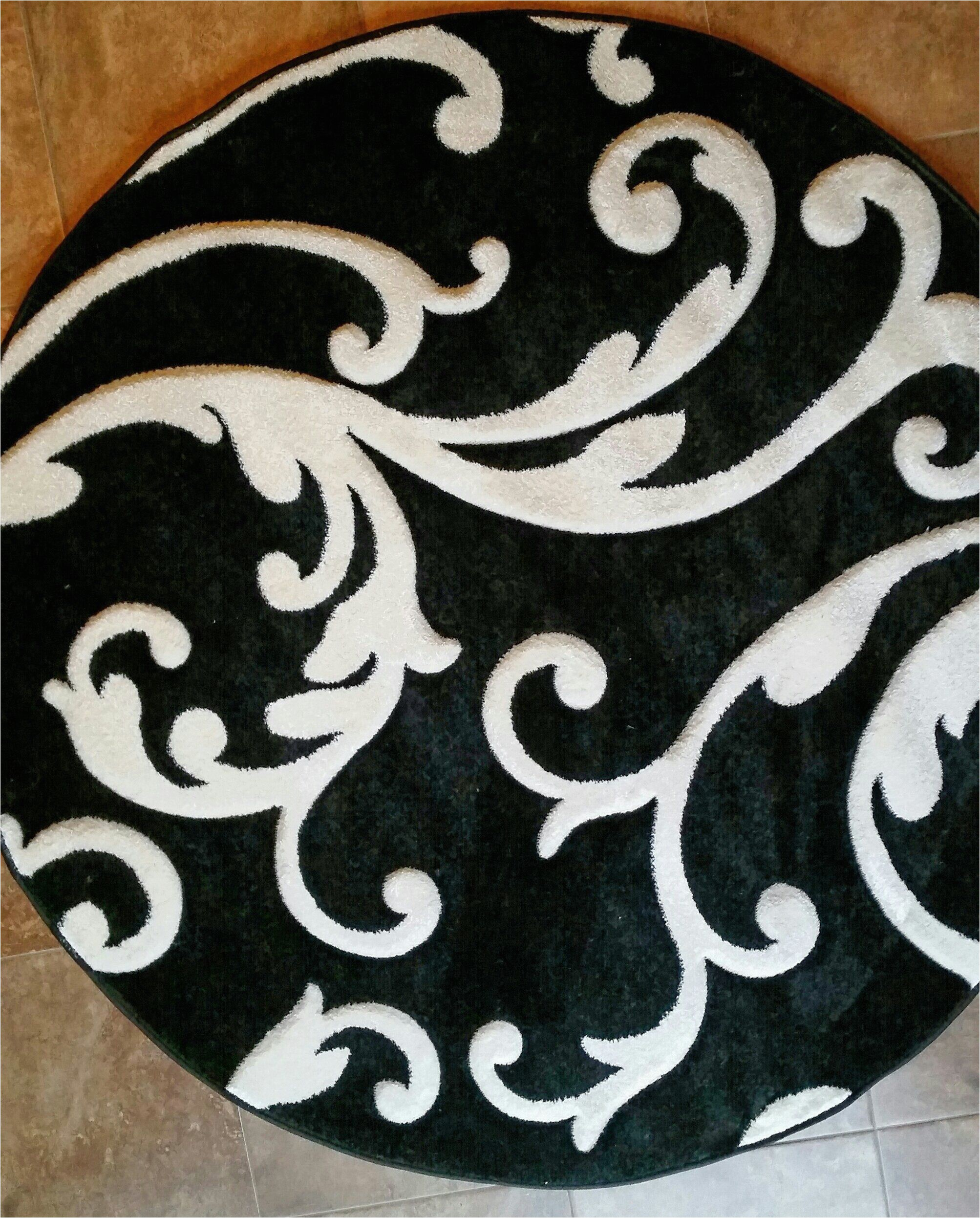 Black and White Round area Rugs Amazon Modern Round area Rug Hollywood Black&pure