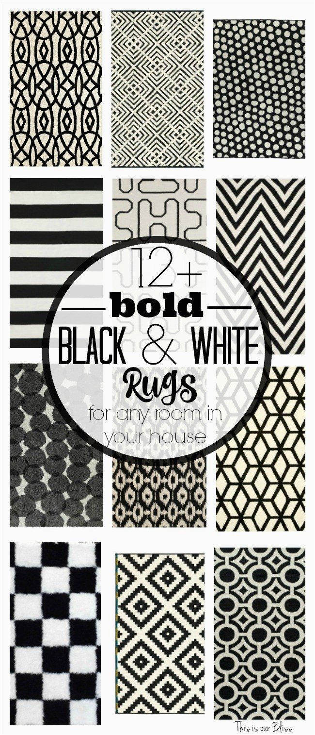 12 Bold Black and white geometric rugs for any room in your house Classic fun rugs This is our Bliss