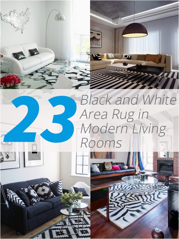 Black area Rugs Near Me 23 Modern Living Rooms Adorned with Black and White area