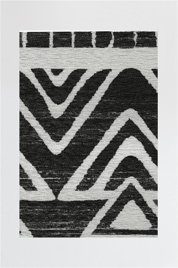 Black area Rugs Near Me Linear Aztec Black Rug