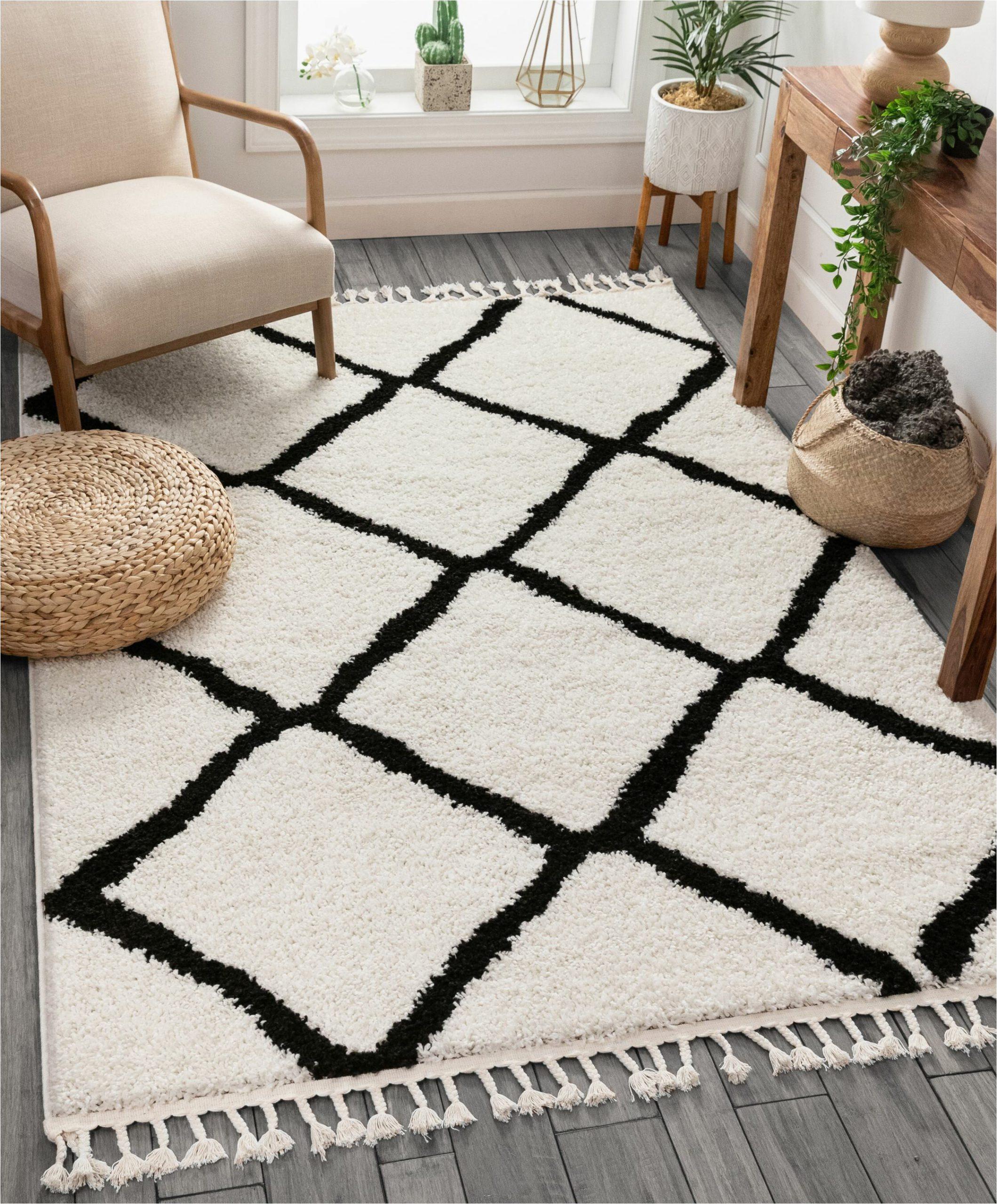 cabana geometric blackwhite area rug
