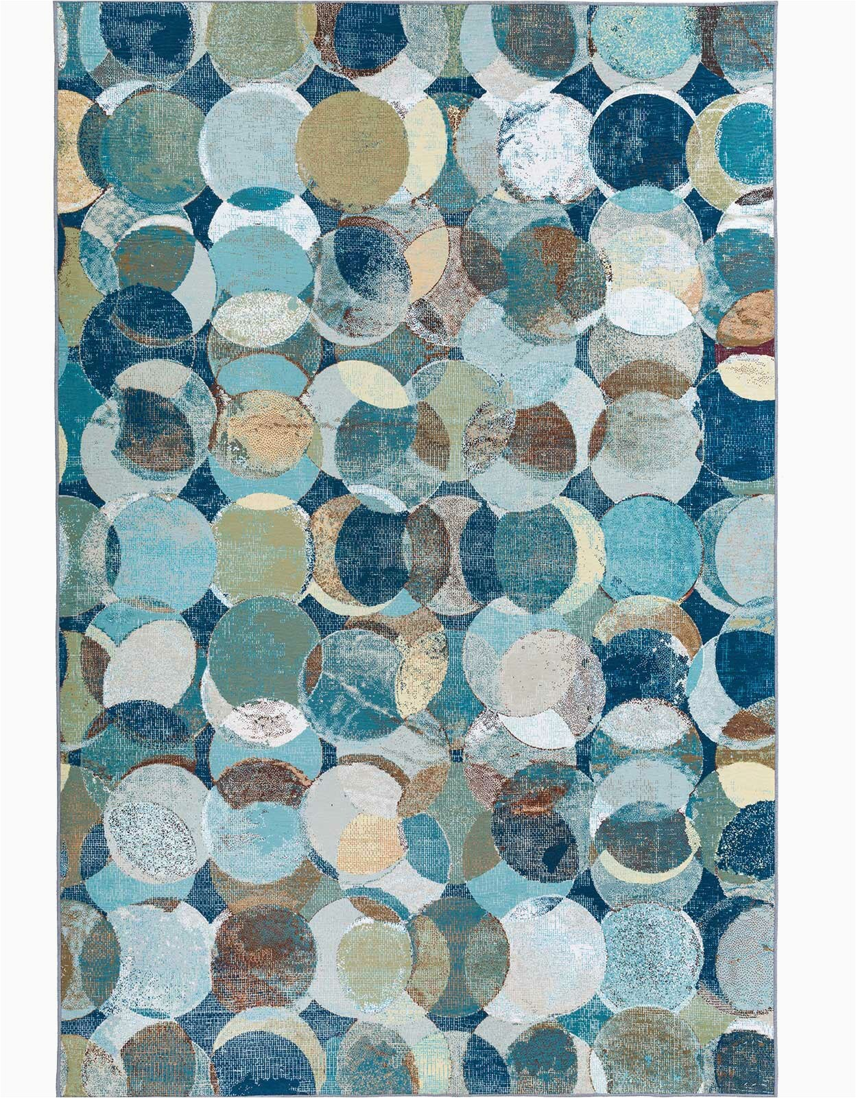 jaelynn geometric brownbluebeige area rug