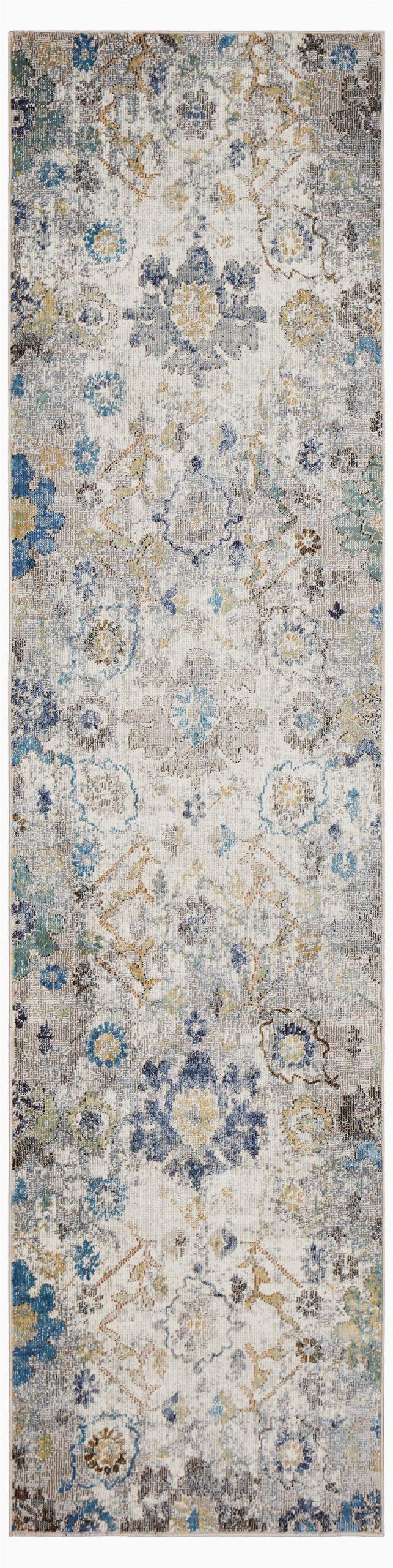 amory floral creamgrayblue area rug