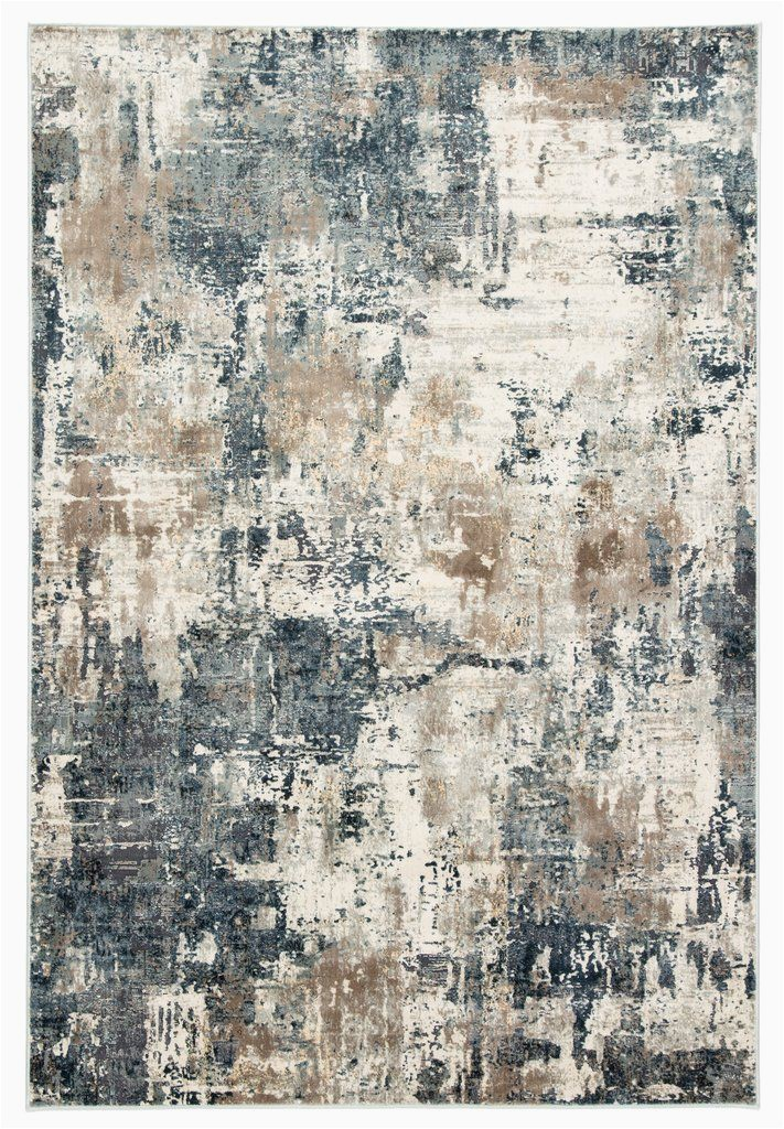 Blue Grey Beige area Rug Sisario Abstract Blue & Gray area Rug