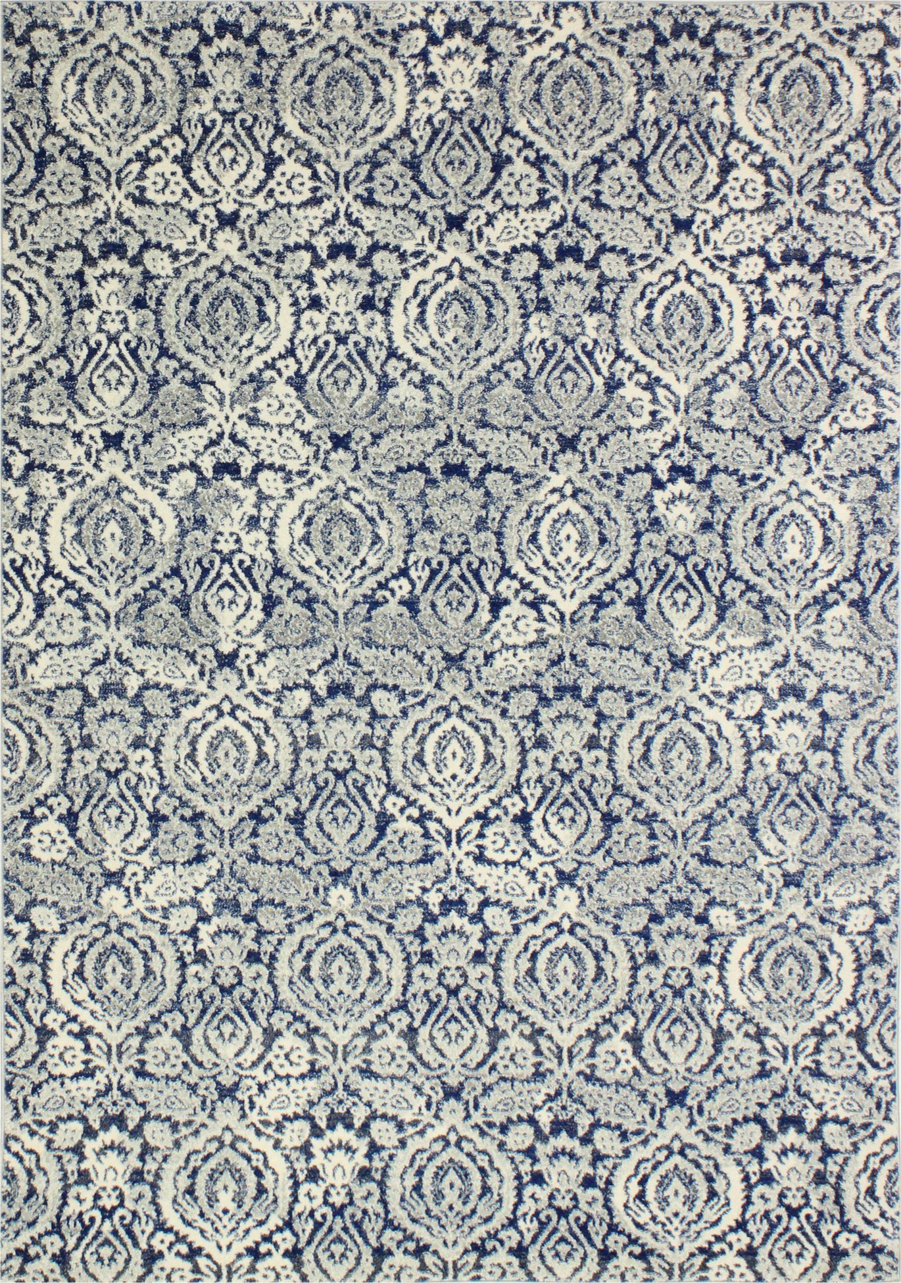 bodell power loom dark bluewhite rug