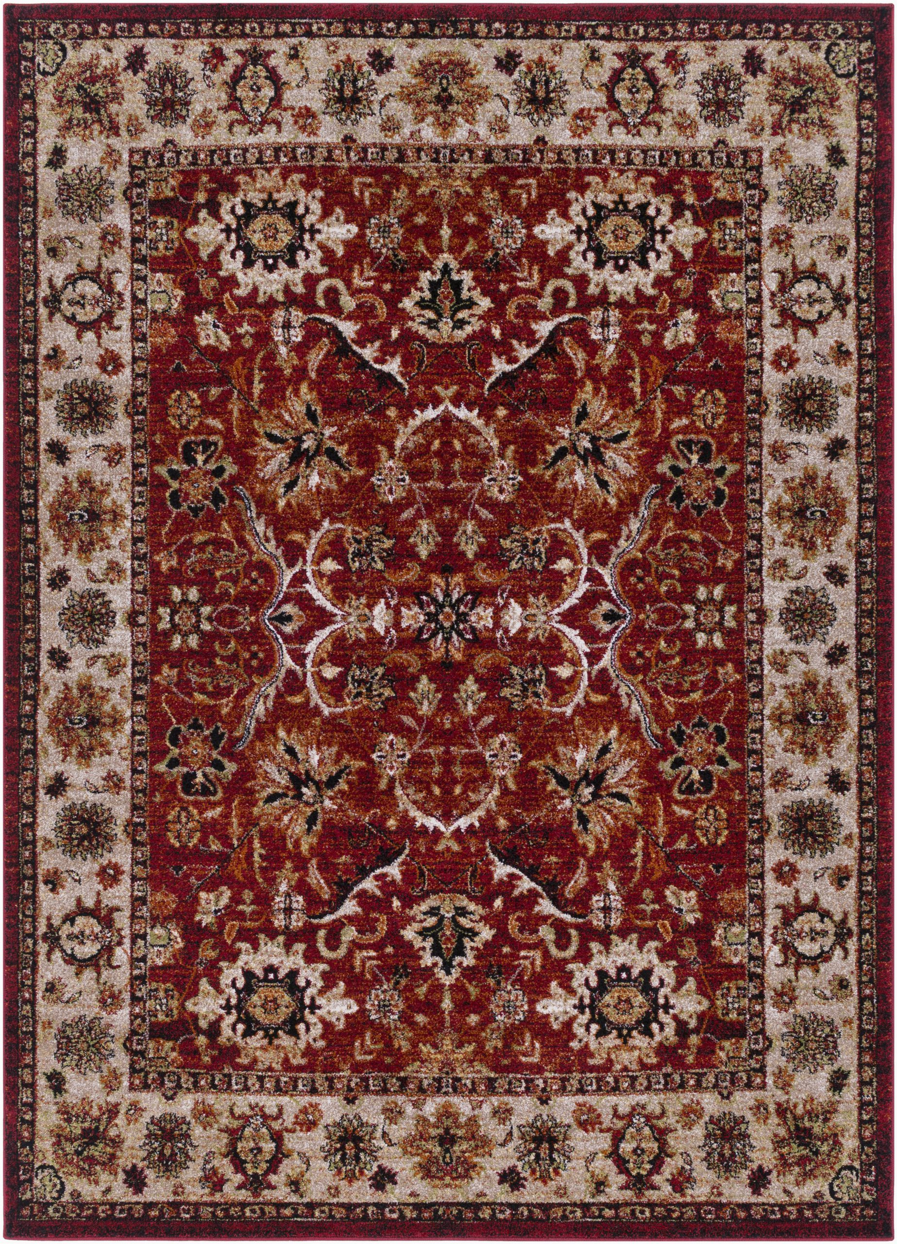 brahim power loom berry red rug