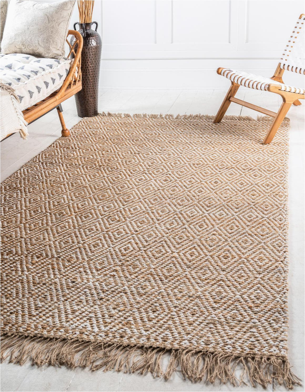 natural 5x8 braided jute area rug
