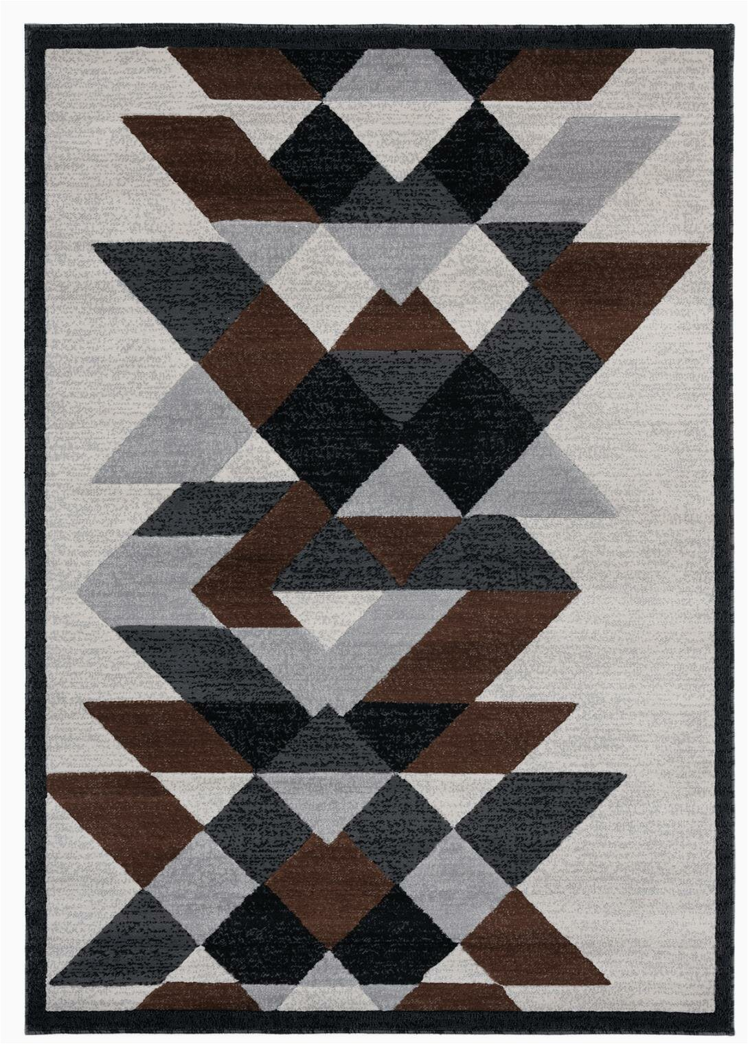 abstract graybrownblack area rug