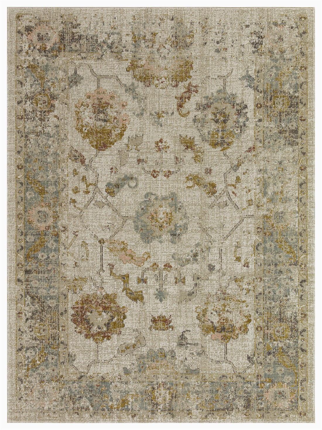 "Cat themed area Rugs 5×7 Lapis Rugs area Rug 5×7 Alcantra Vintage Collection oriental Low Pile Turkish Carpet 5 2"" by 7 2"" Cream Blue Walmart"